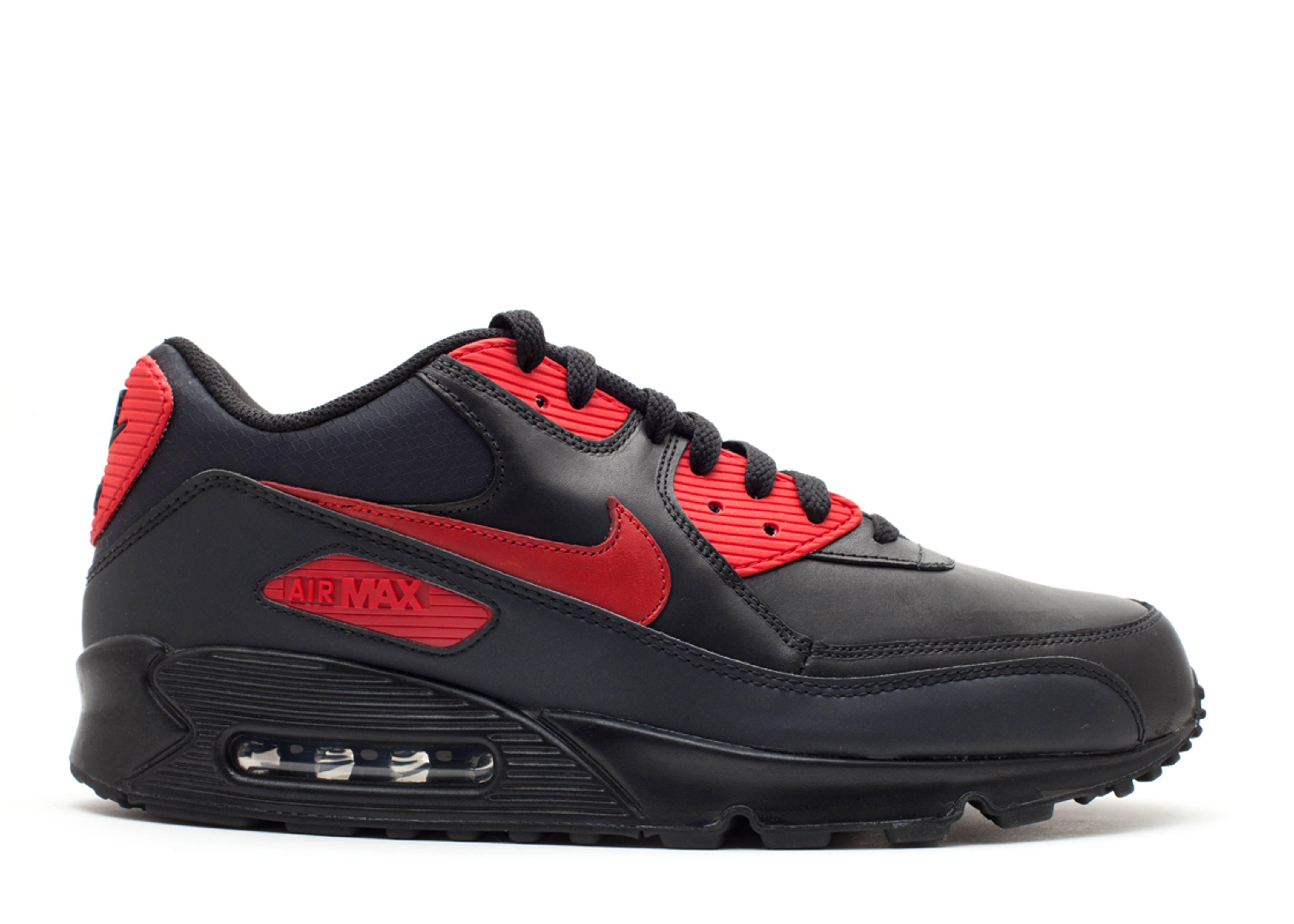 c04d7eb9e344 Air Max 90 Premium - Nike - 333888 006 - black black-varsity red ...