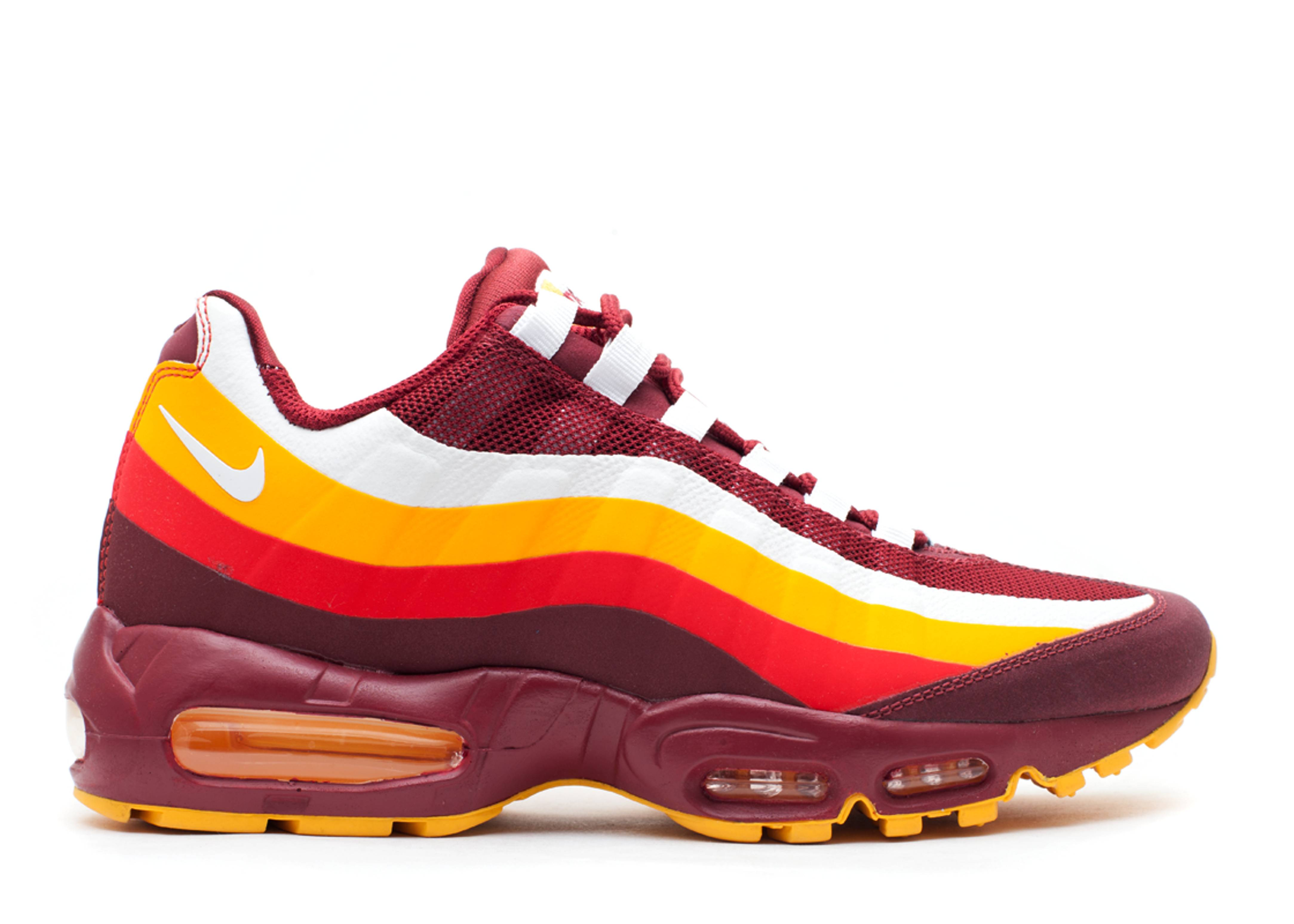 nike limited edition air max 95 redskins shoestrings
