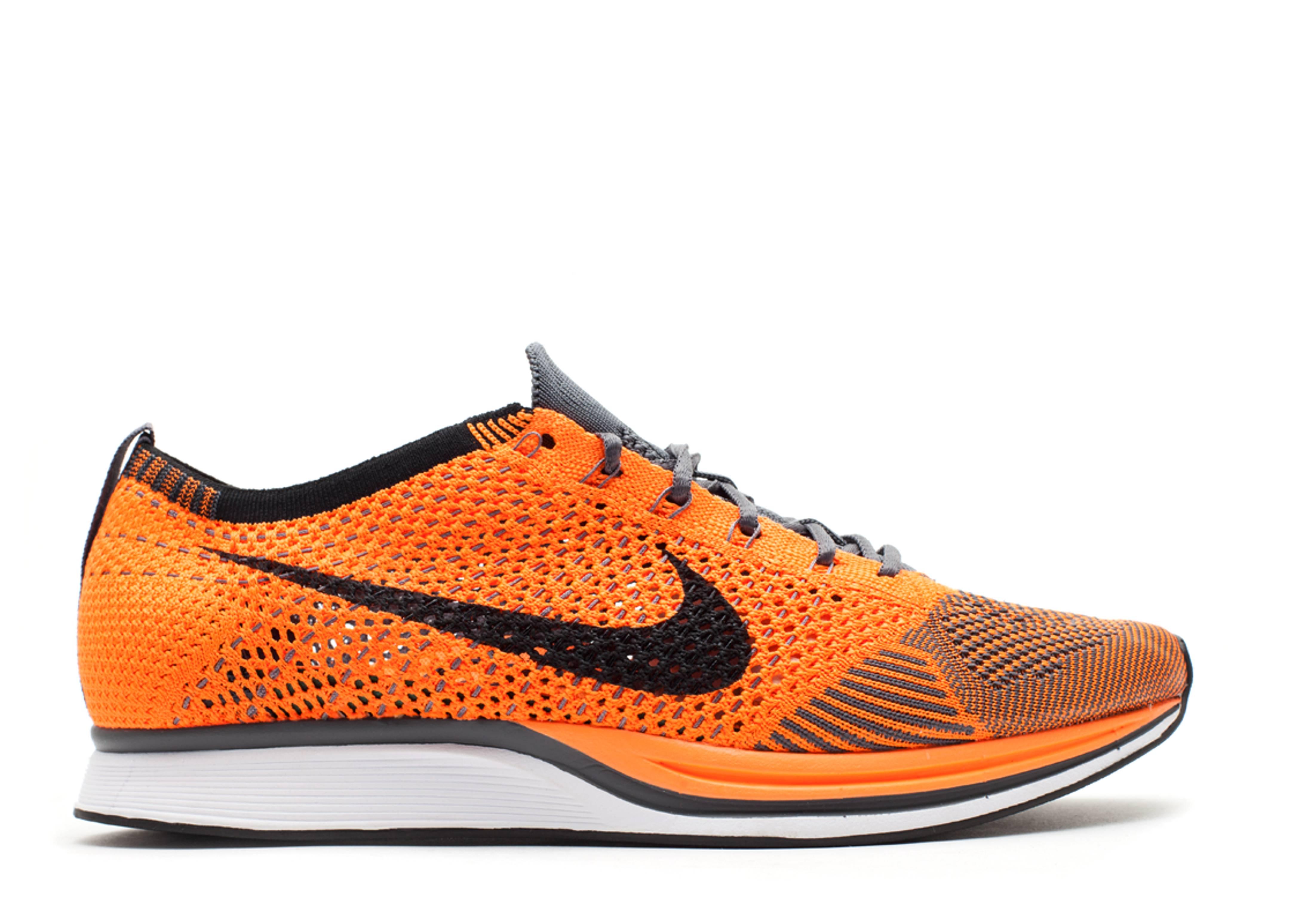 e95fee3a5f482 Flyknit Racer - Nike - 526628 810 - total orange white-dark grey ...