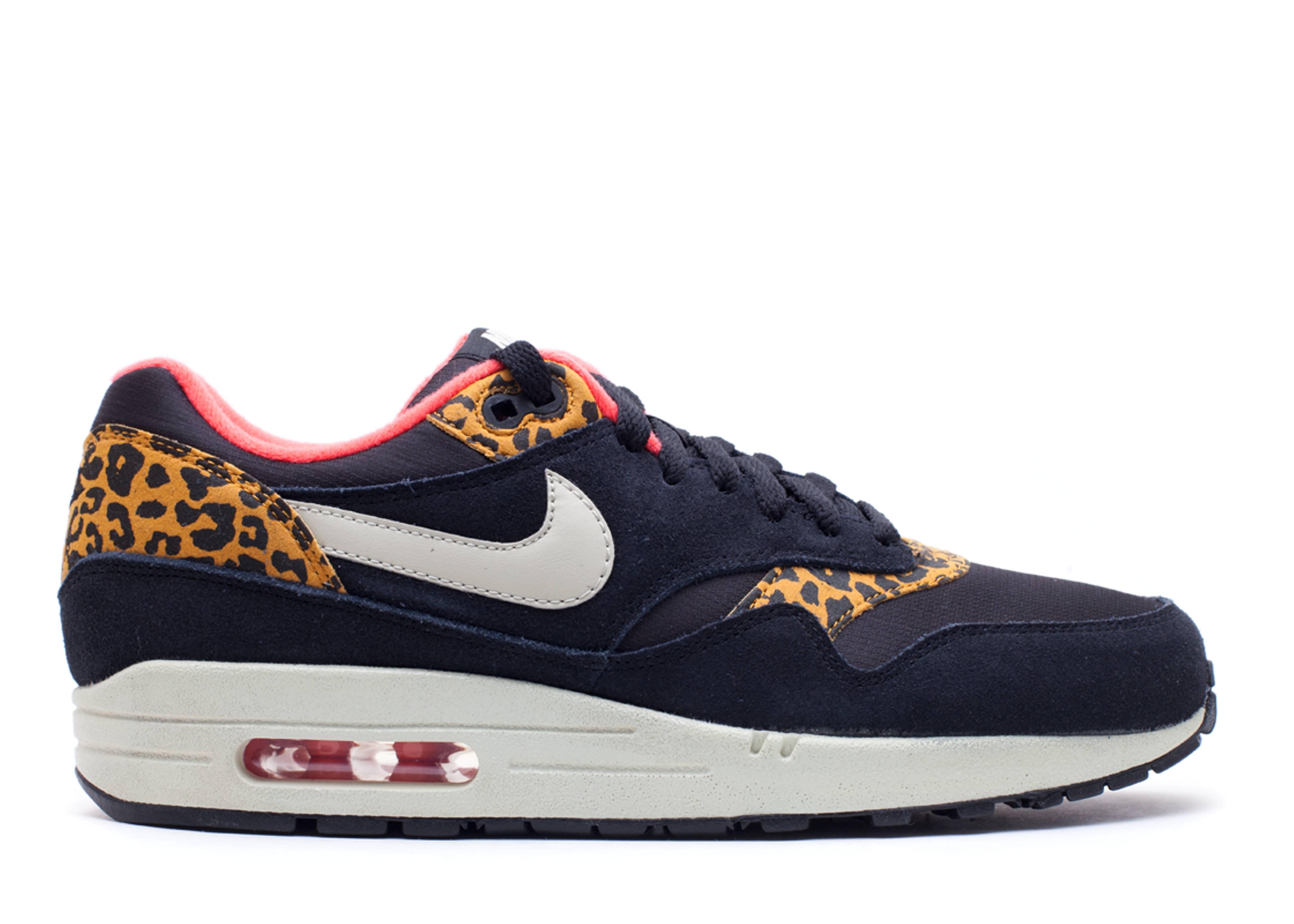 Nike Air Max 1 'Black Leopard' Trainers Sandtrap Dark Gold
