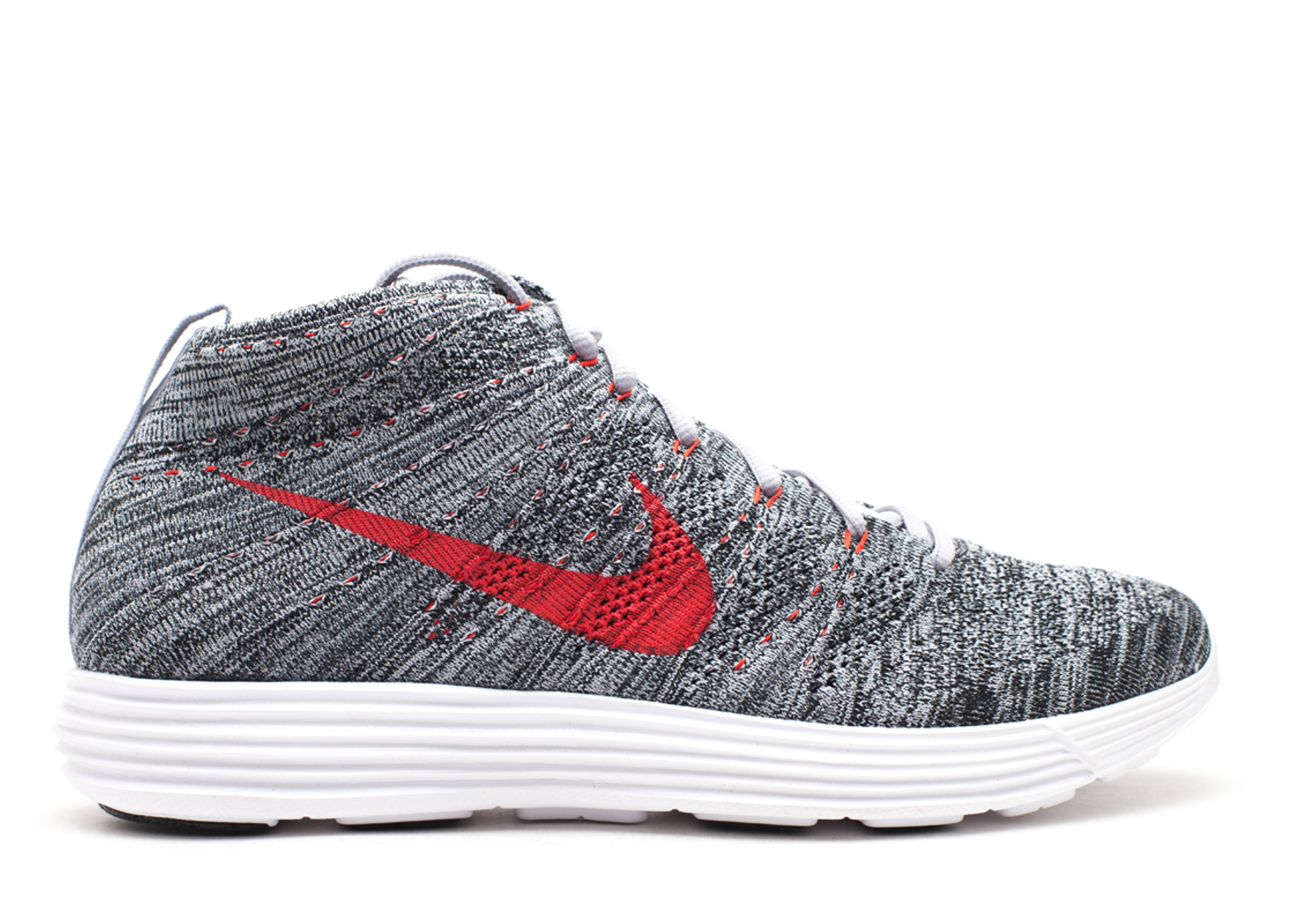 best service e5914 033c9 nike lunar flyknit chukka red and grey
