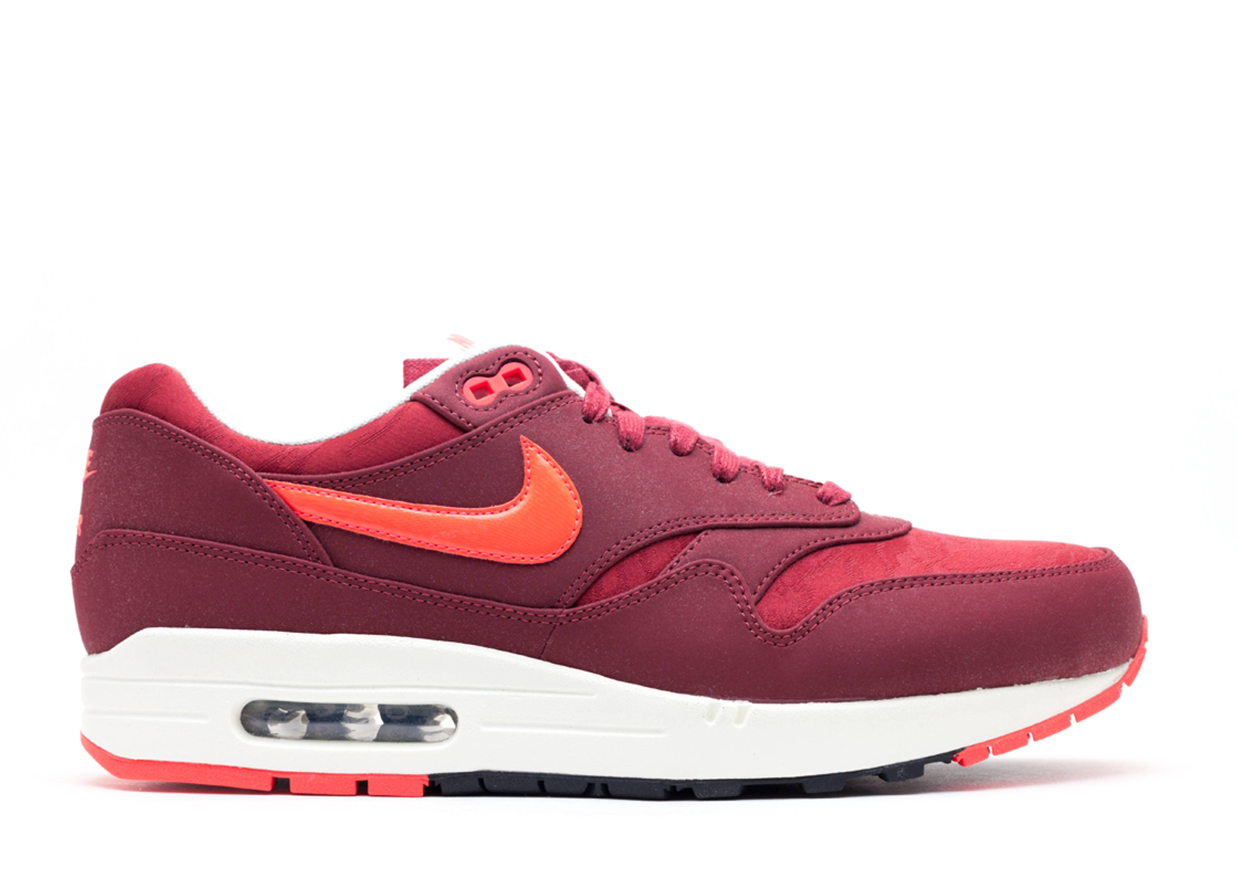 Mens 2013 Nike Air Max 1 PRM Team Red/Atomic Red Shoes Sneakers Size 10