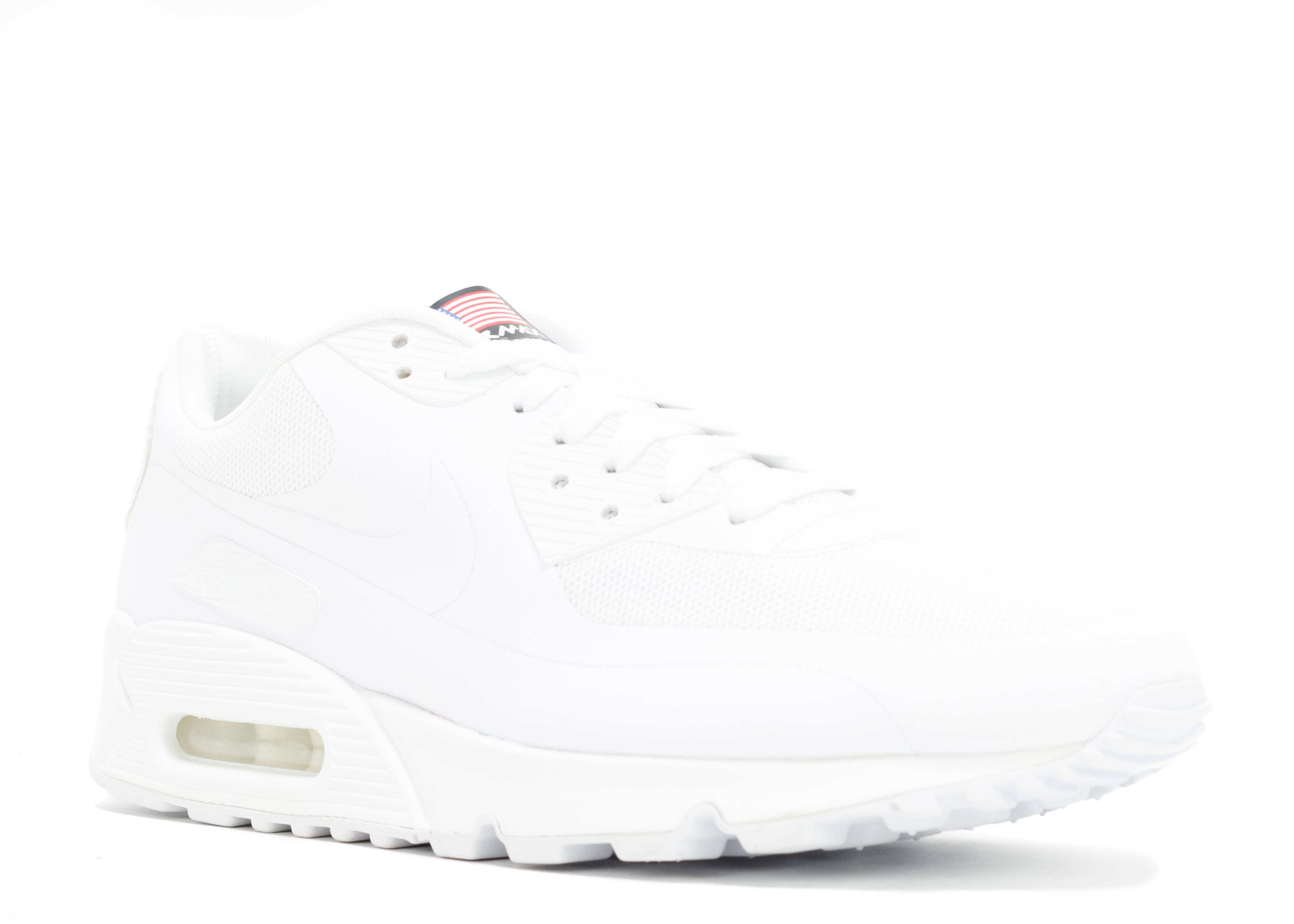 Details about NIKE AIR MAX 90 HYPERFUSE USA WHITE Size UK 4 QS 613841 110 Independence Day