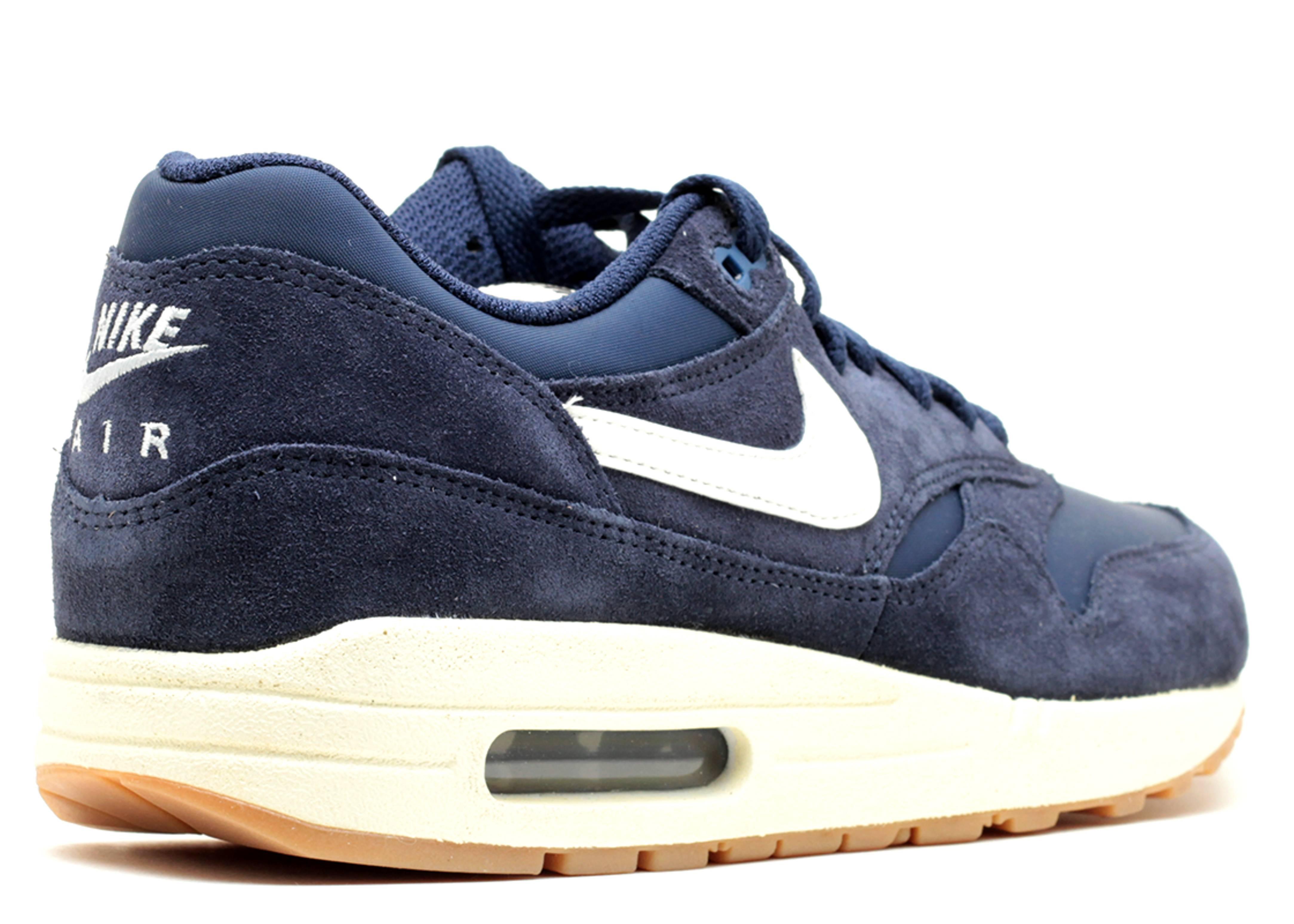 Nike Air Max 1 Essential Midnight Navy White Gum 537383 40