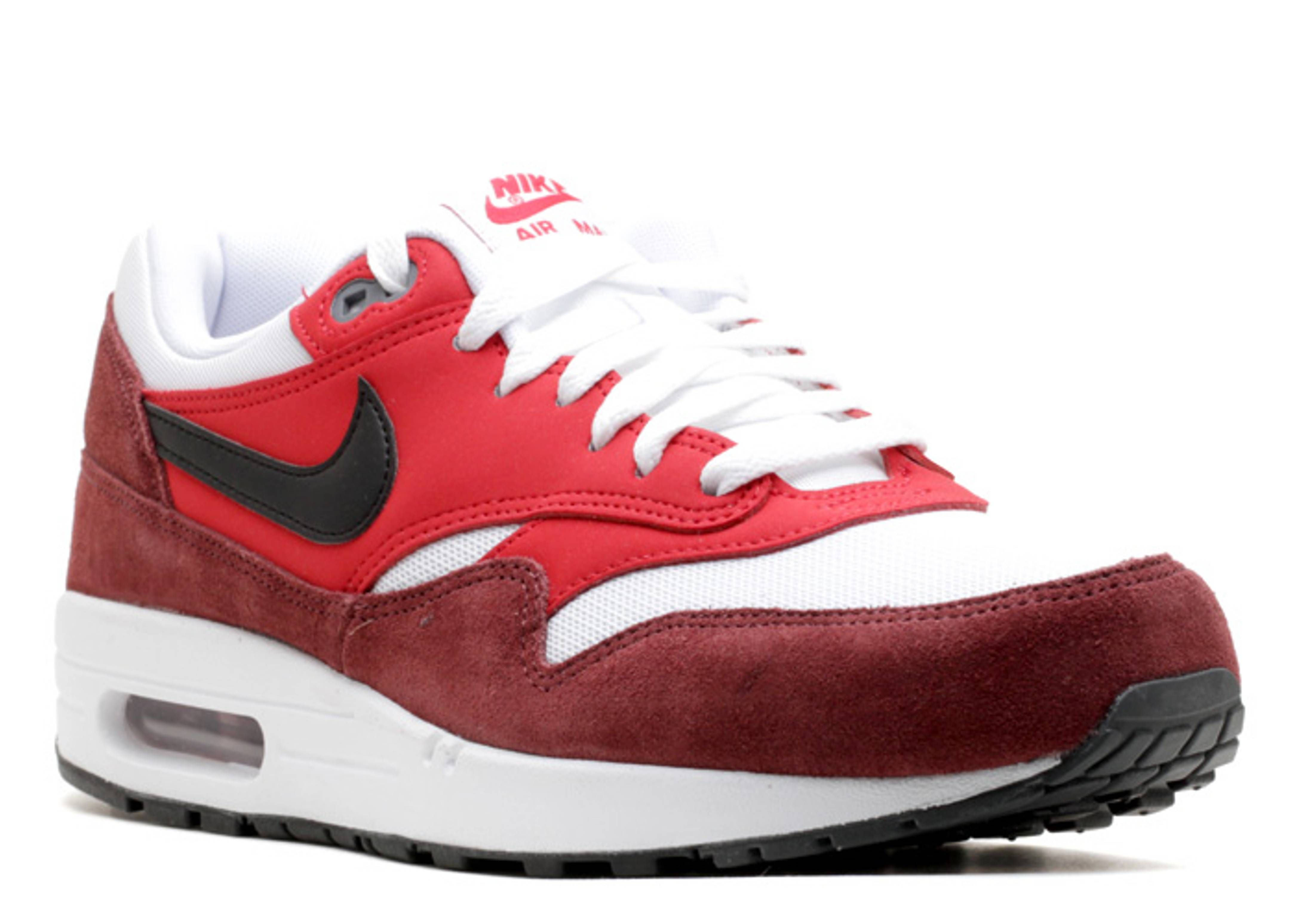 Nike Air Max 1 Essential White University Red Black