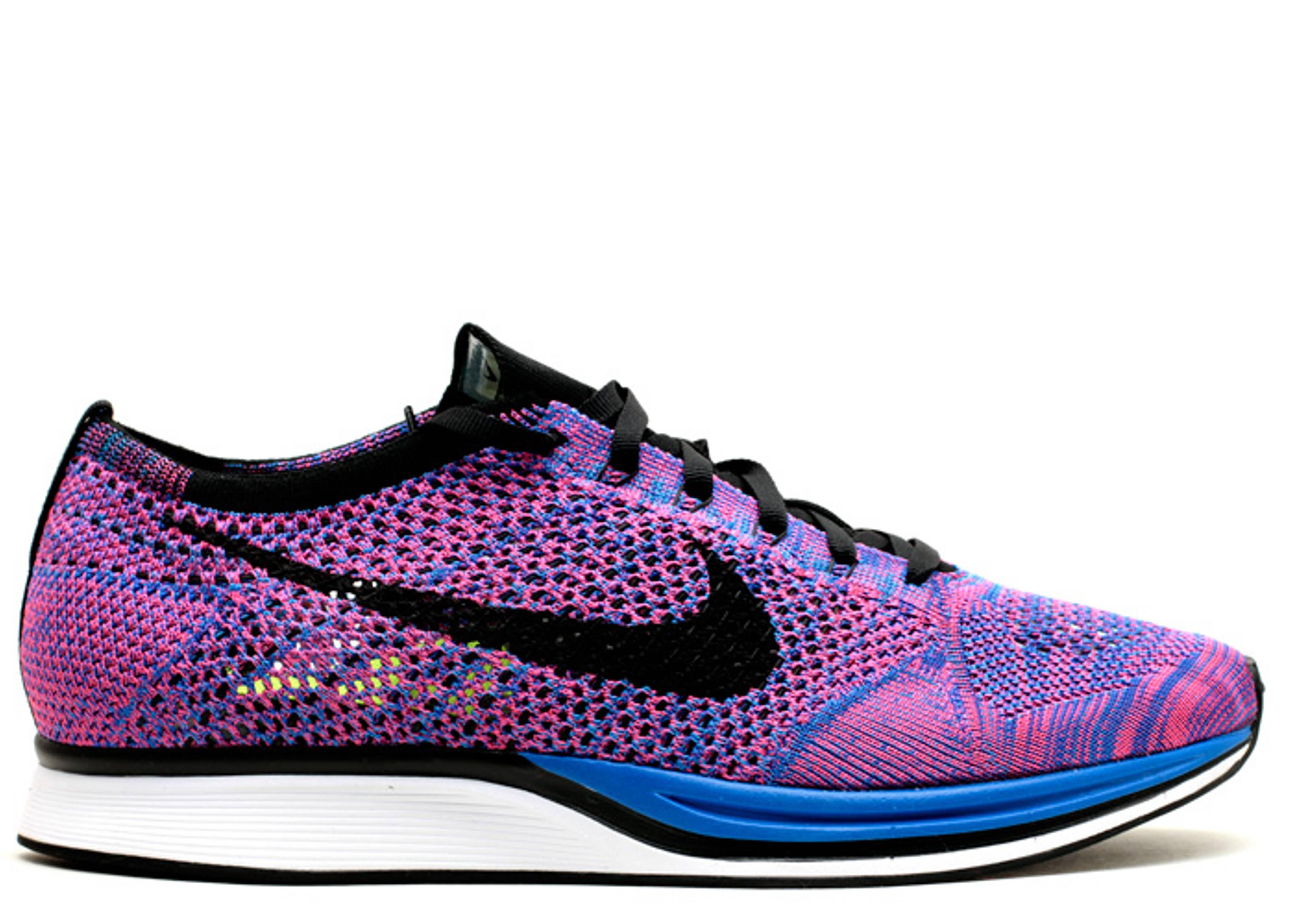 f9de5bd11096e Flyknit Racer - Nike - 526628 400 - game royal black-pink flash ...