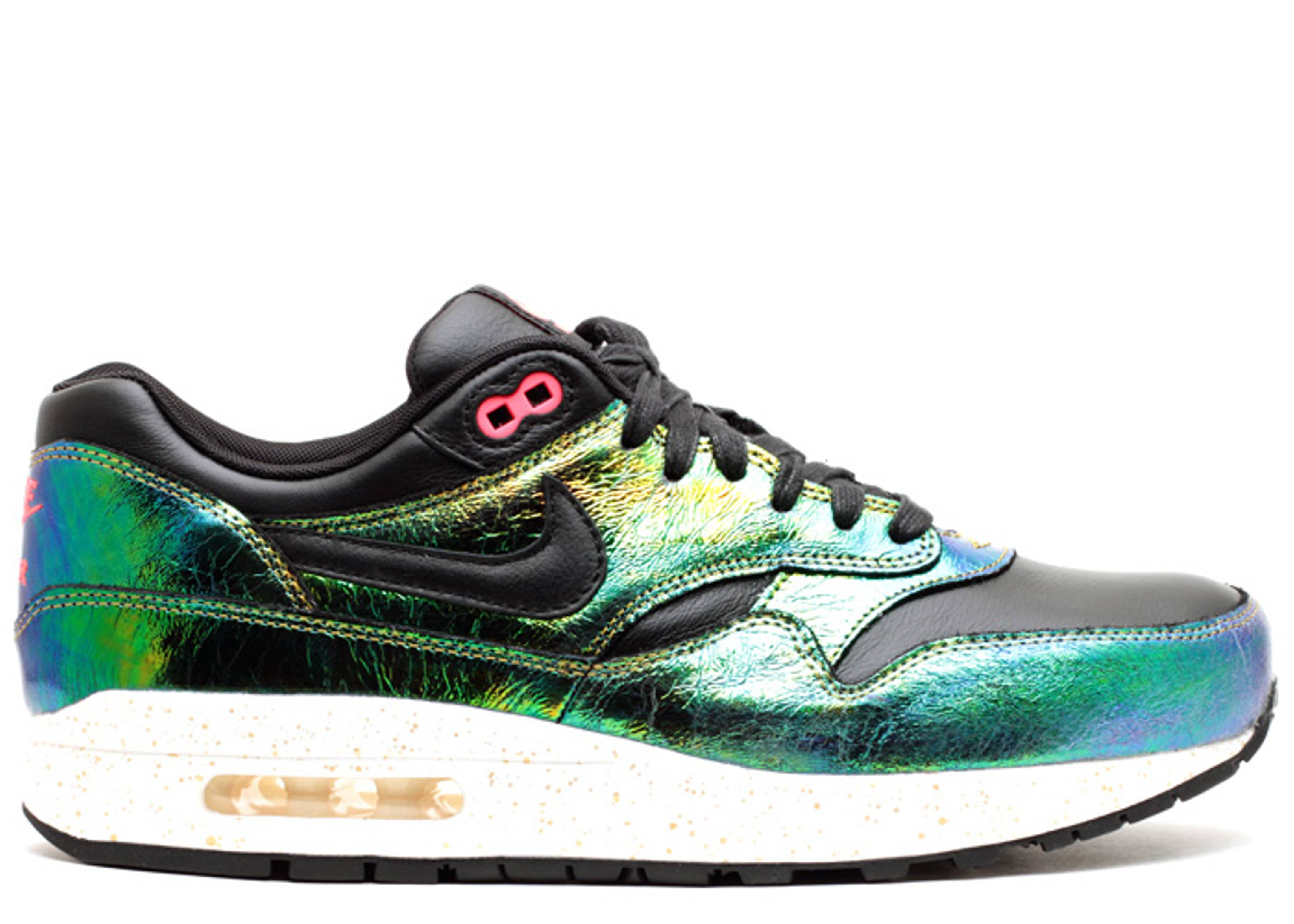 Men's Nike Air Max 1 SUP QS Bronze Trophy Pack Black Ivory Sneakers : D83x5914