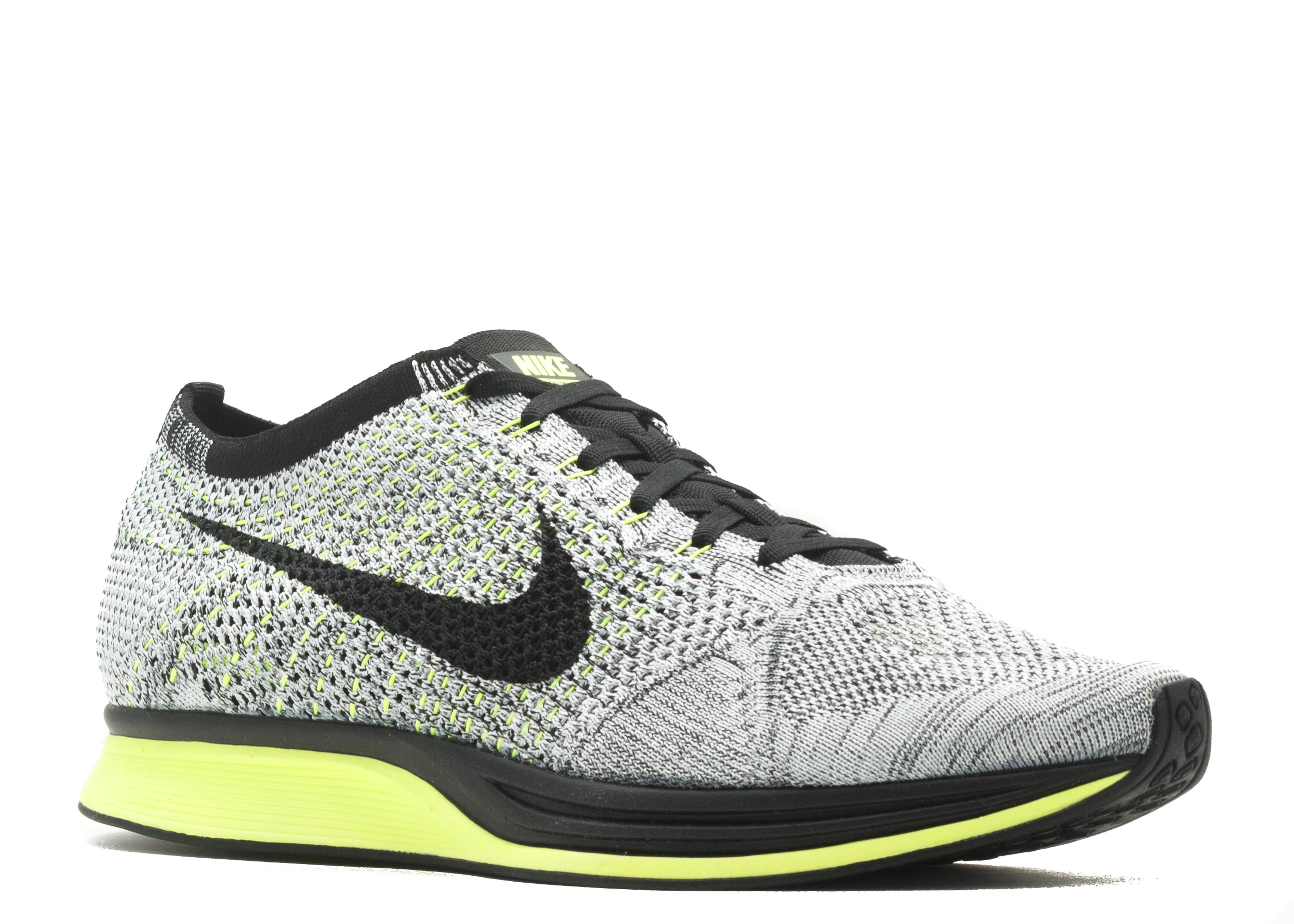hot sale online 0f265 81204 nike flyknit racer oreo volt for sale