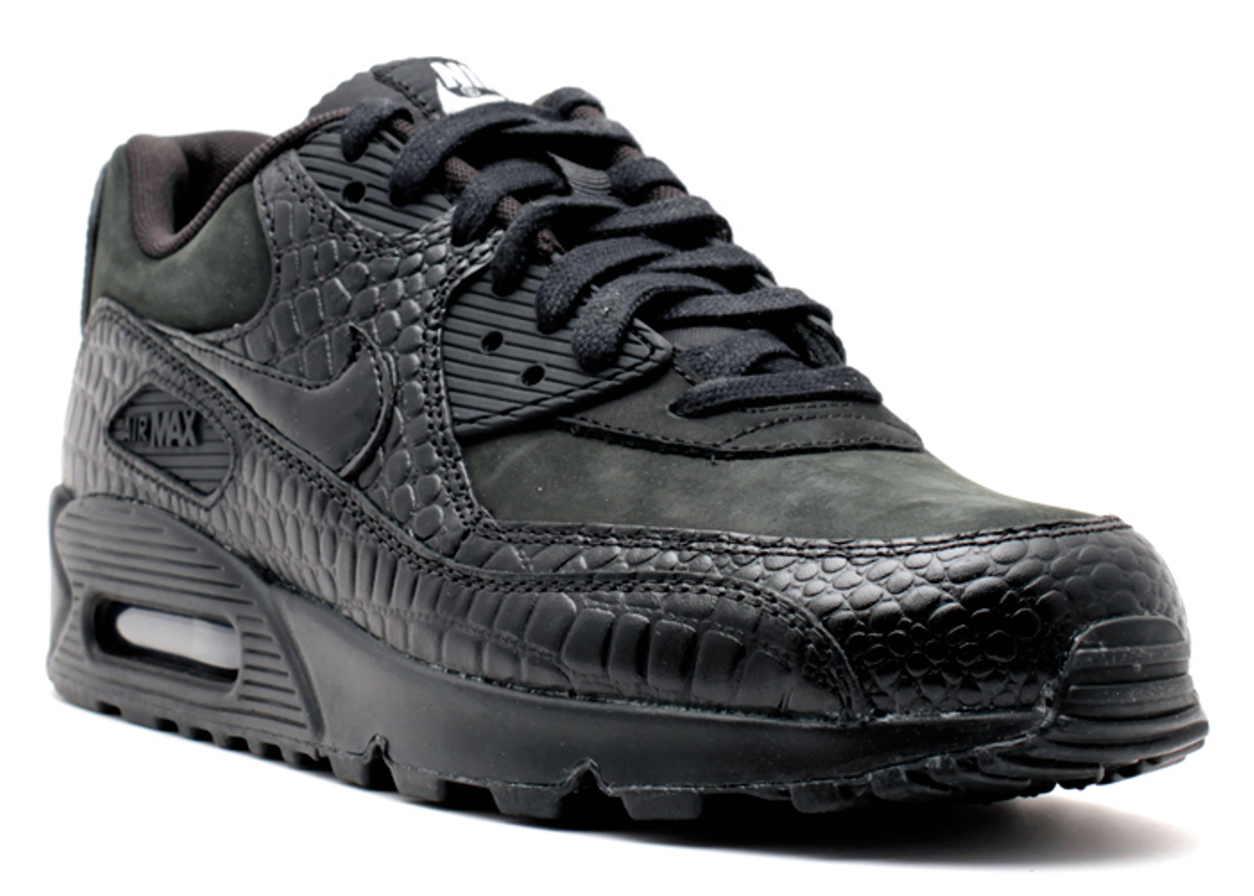 wholesale dealer cc2f6 93d98 nike womens air max 1 black reptile ws air max 90 prem black black mtllc  silver vlt