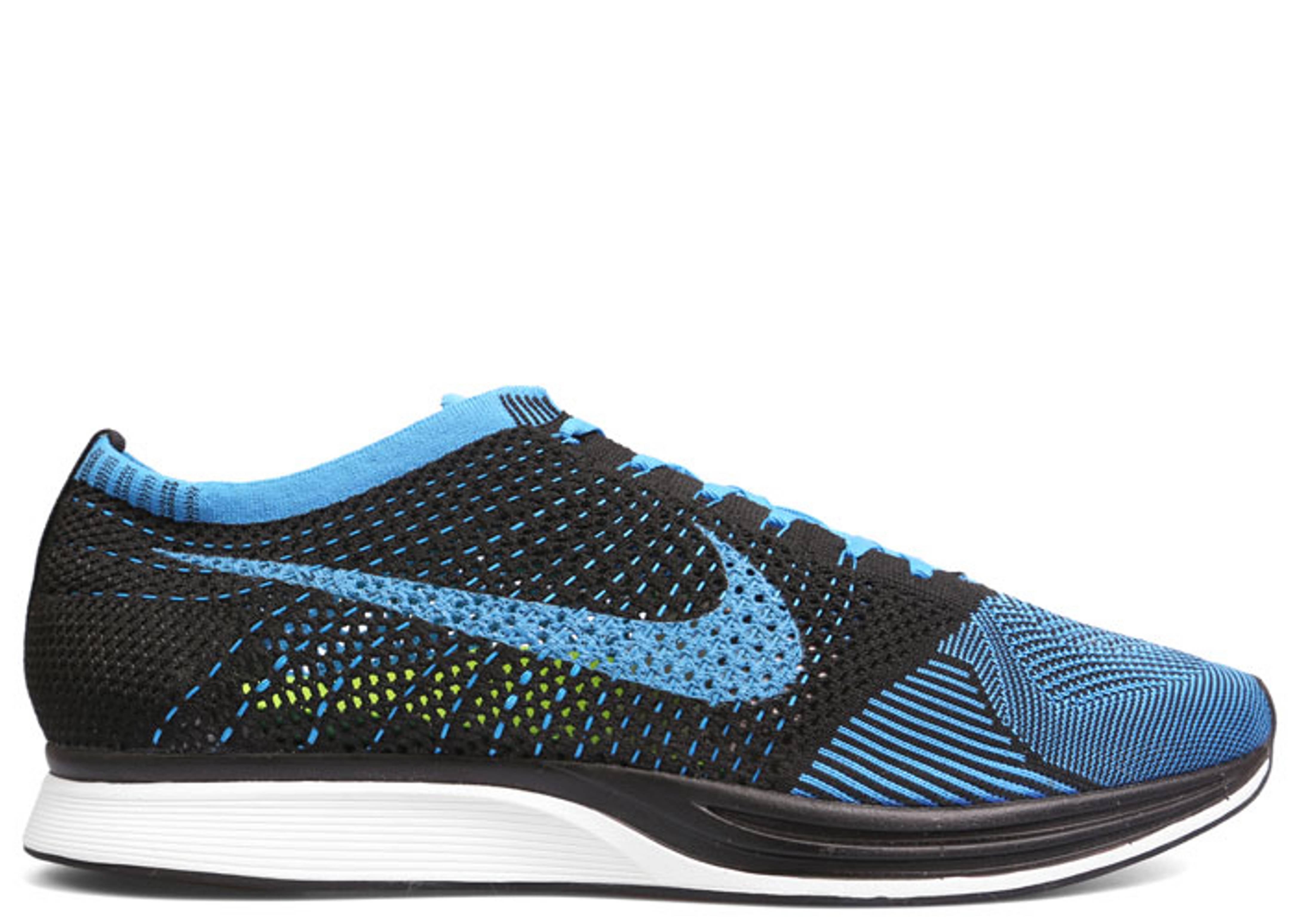 899985aea84e Flyknit Racer - Nike - 526628 001 - black photo blue white