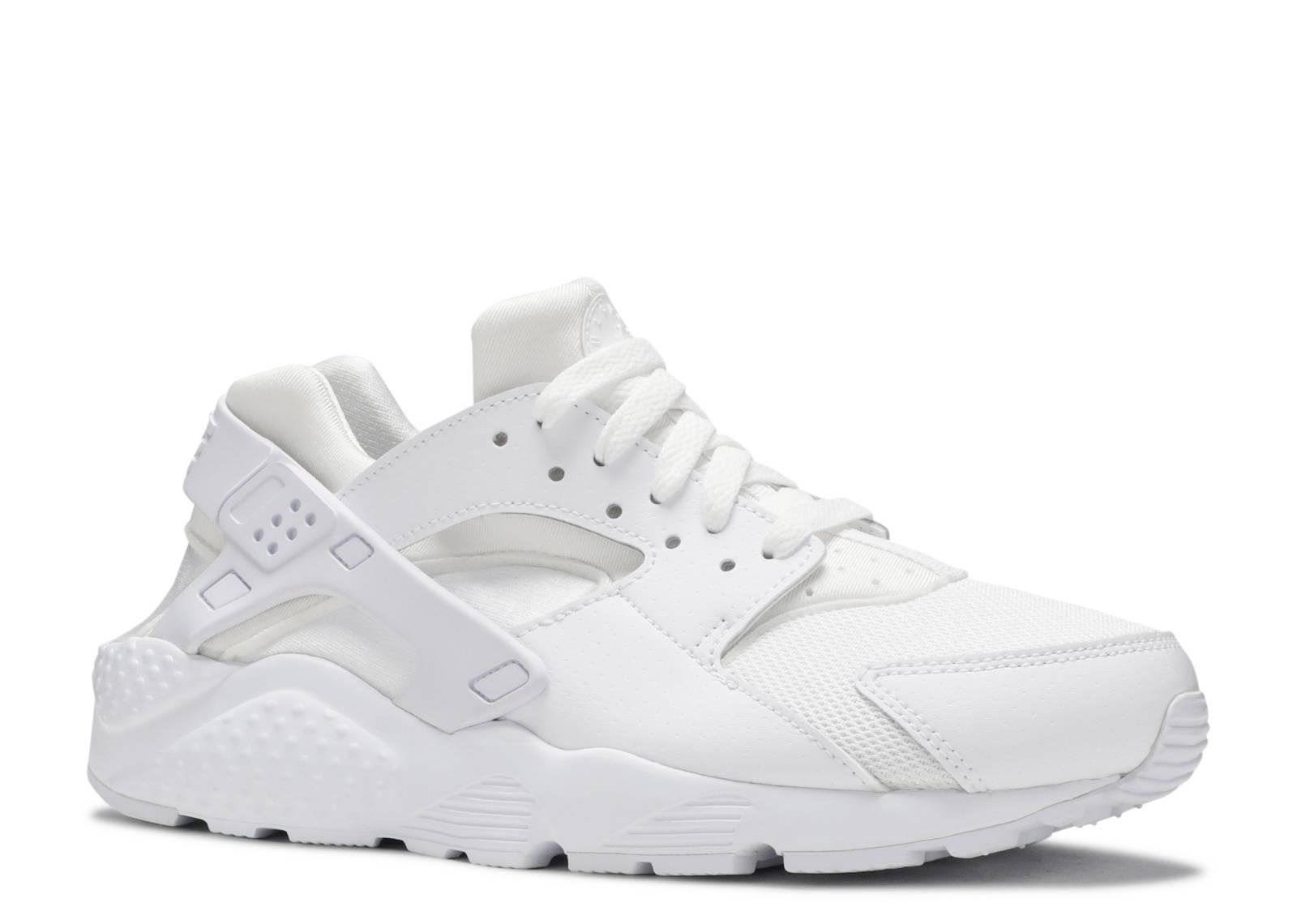 nike huarache white white