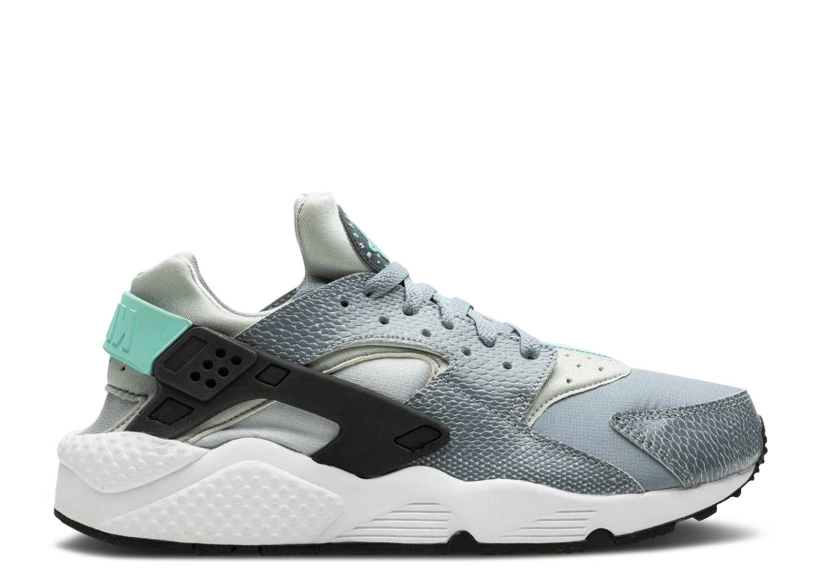 SILVER Nike Air huaraches UK 6.5