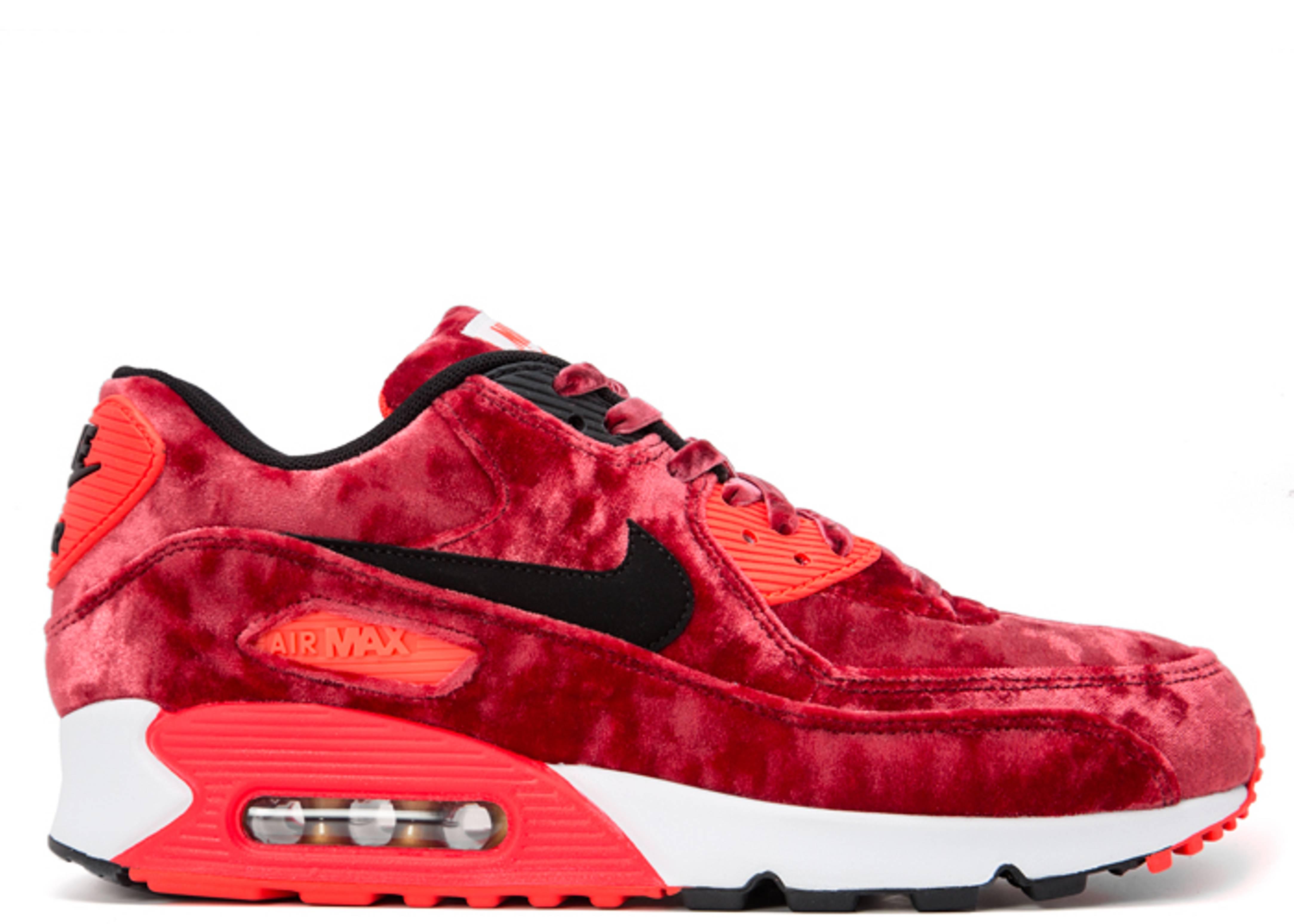 air max velour rouge