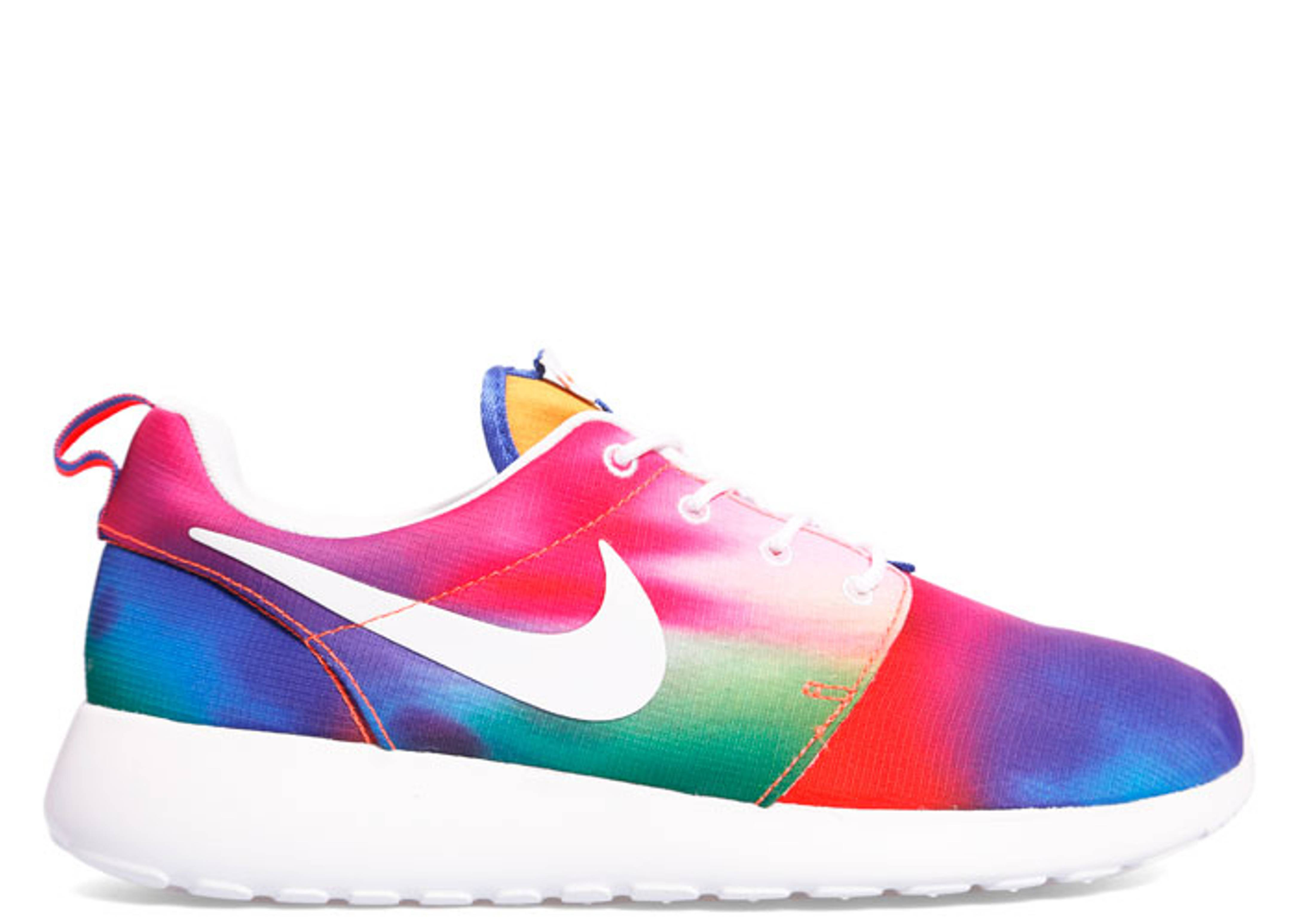 mens nike roshe run high gold blue
