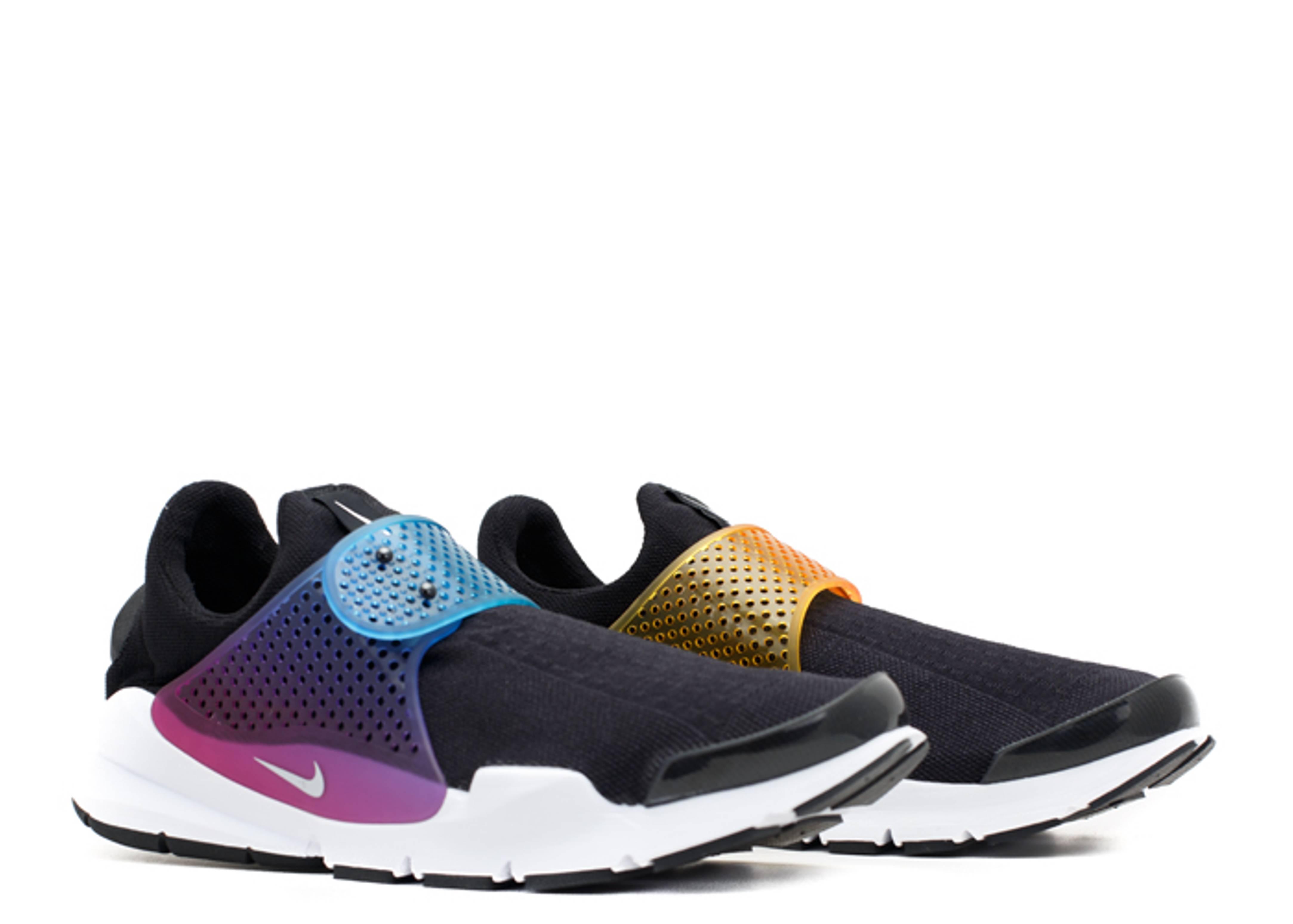 Nike Dart Chaussette Sp Noir / Blanc-rainbow grand escompte dfpO4