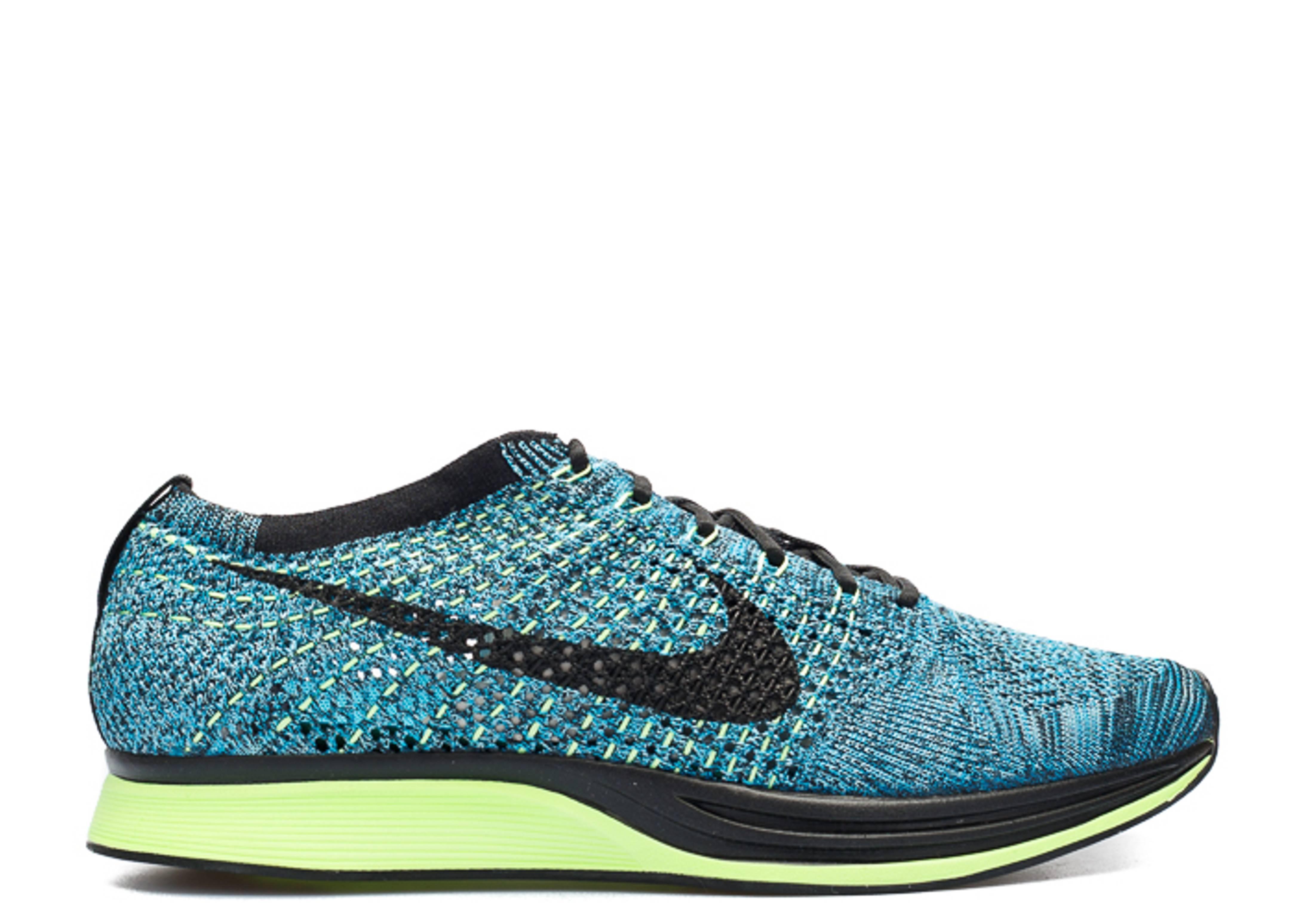 99a19c66f51e Flyknit Racer - Nike - 526628 401 - blue lagoon black plrzd blue ...
