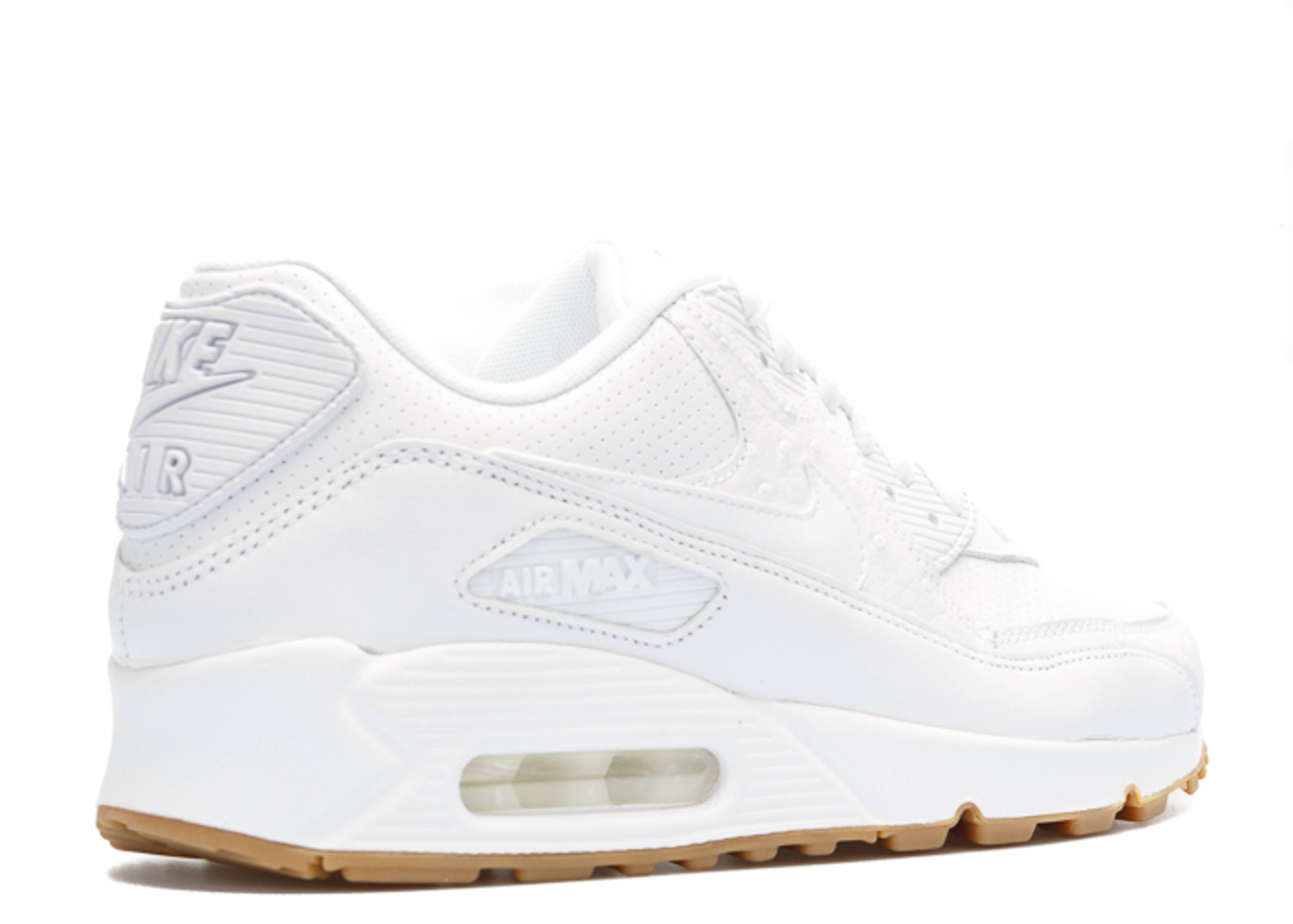 Air Max 90 Leather Pa - Nike - 705012 111 - white white-gum light ... 894f83187