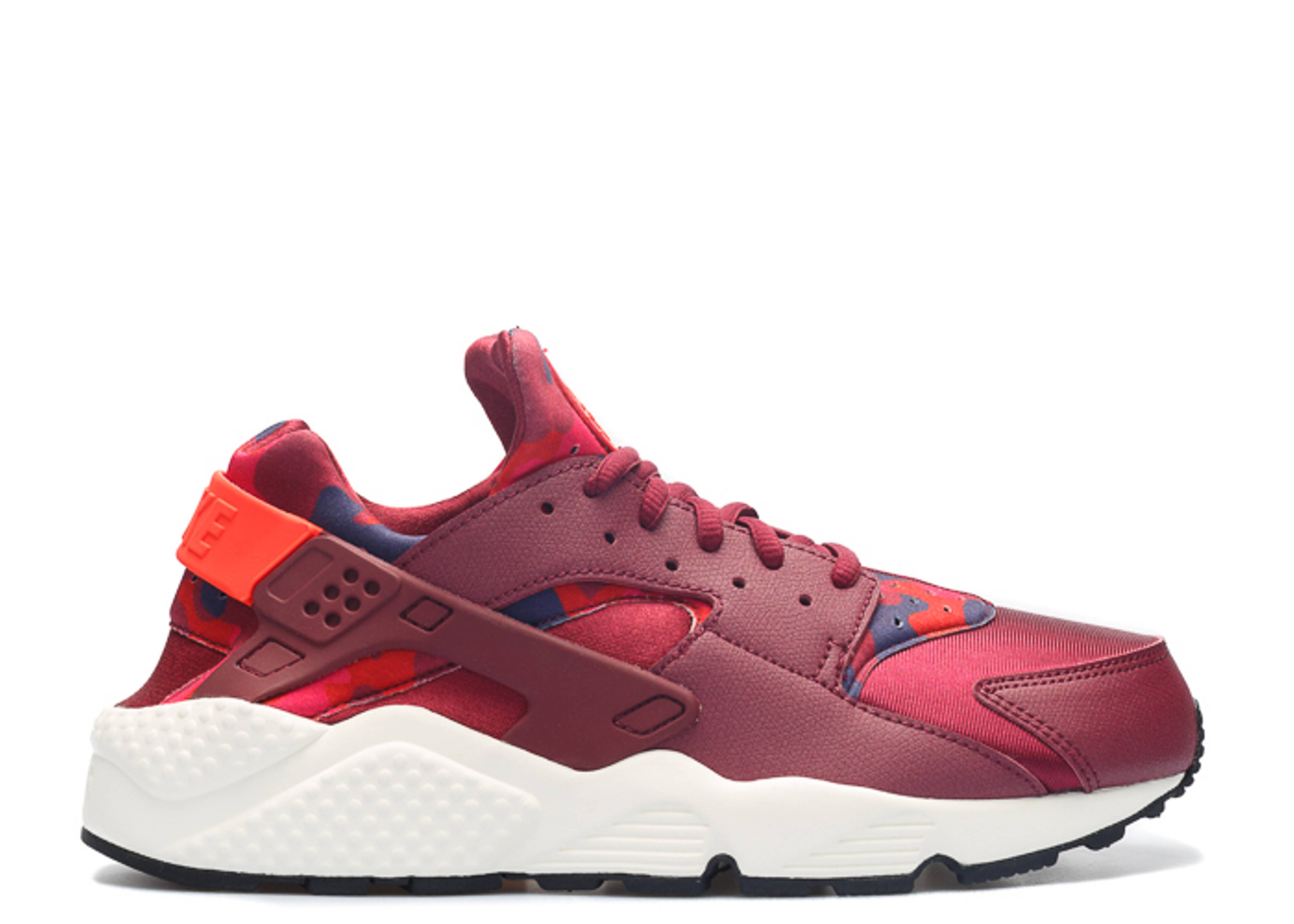 da993d55227dd W s Air Huarache Run Print - Nike - 725076 602 - deep garnet bright ...