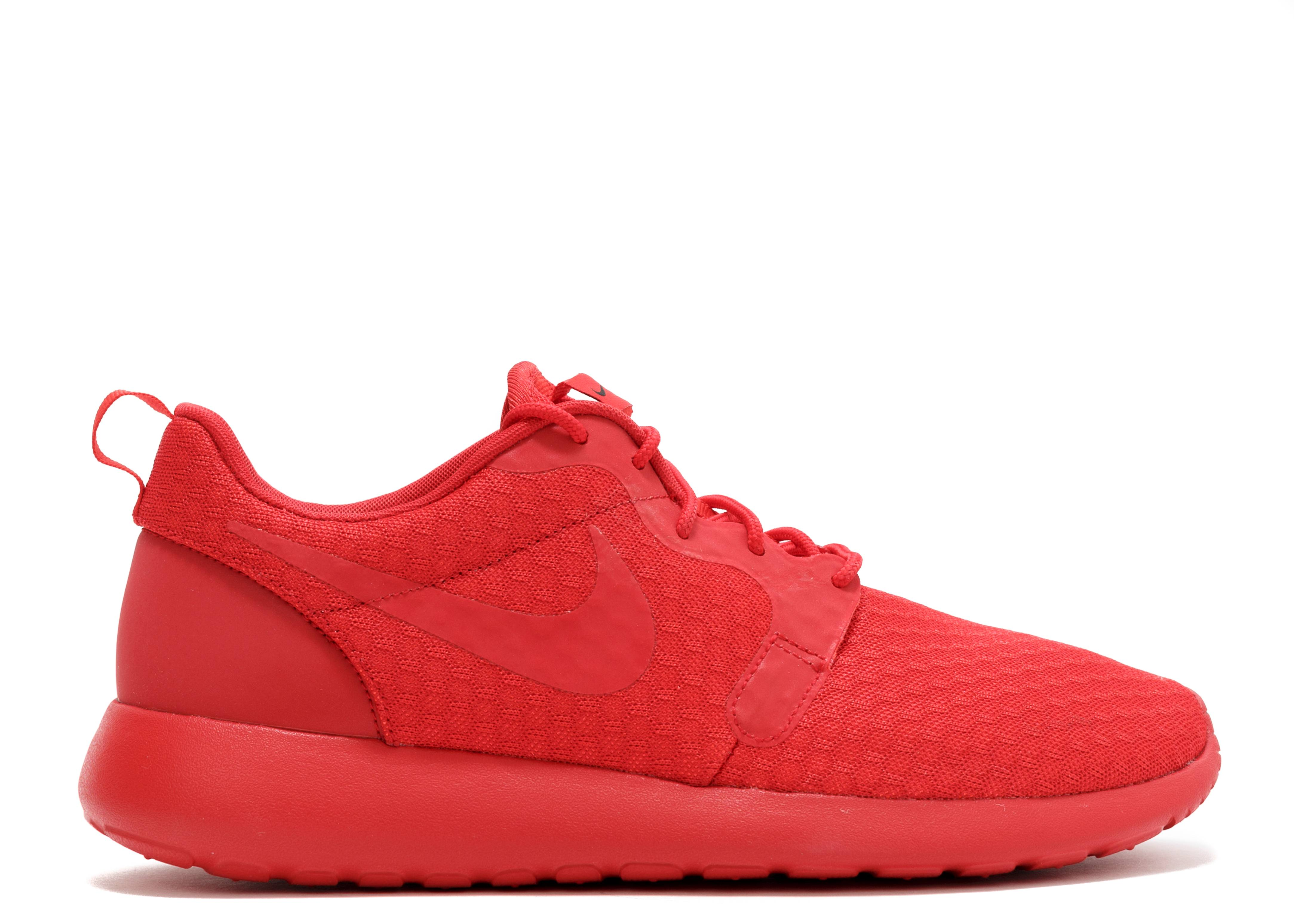 mens nike flyknit roshe run pink red