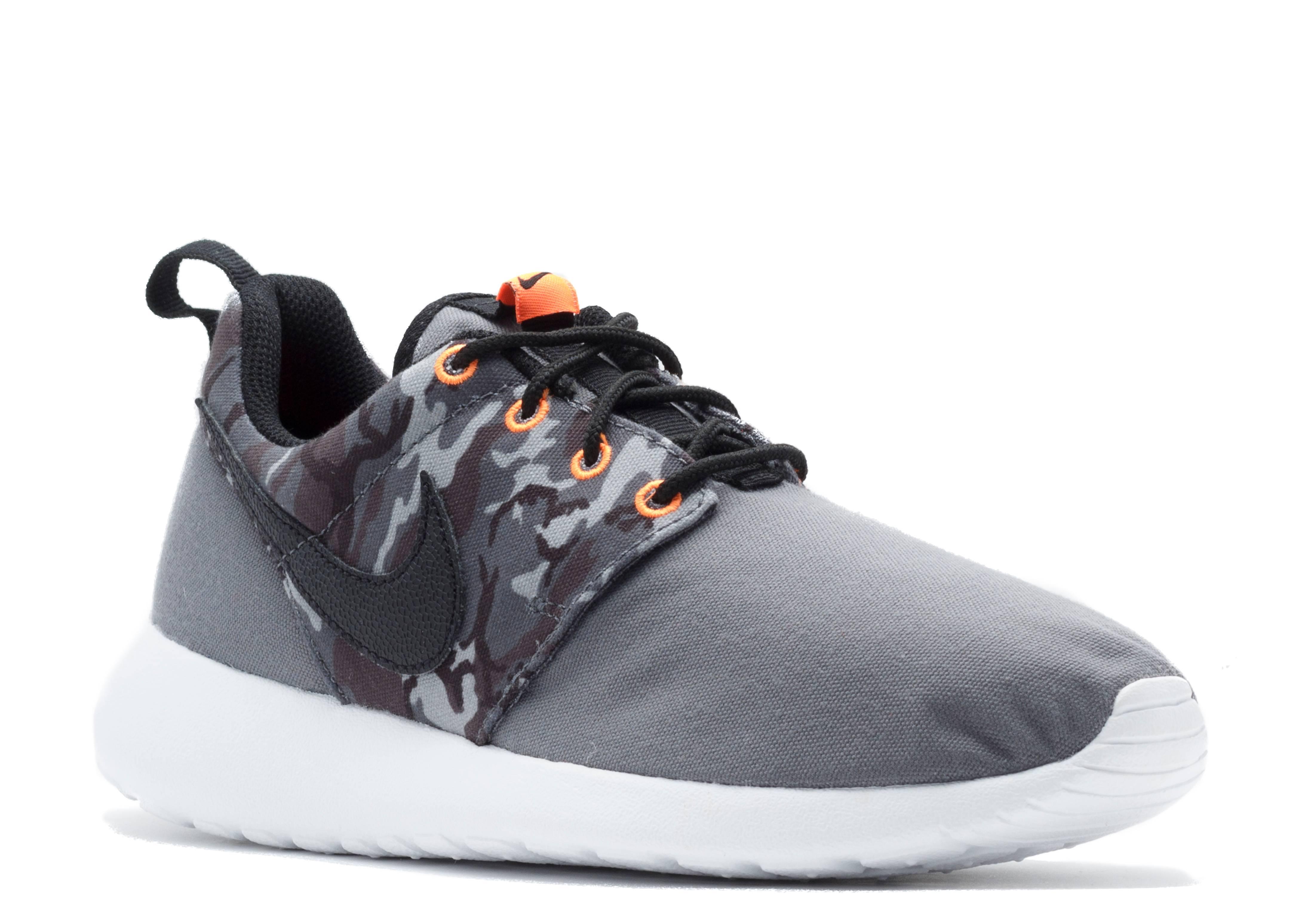 Rosherun Print Gs - Nike - 677782 004 - dark grey black-cl gry ... 206d65806