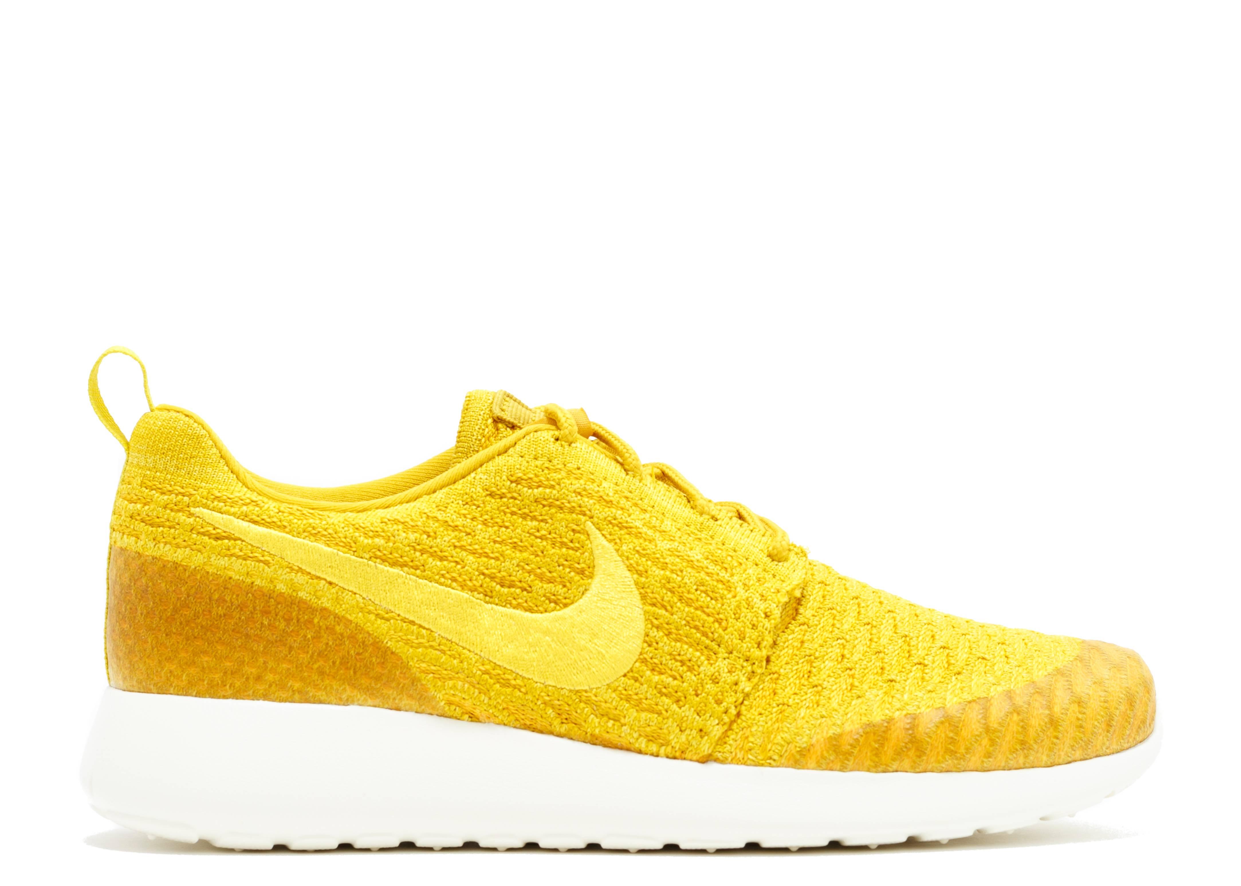 ... w's roshe one flyknit - gld ld/tr yllw-unvrsty gld-sl -; Nike WMNS Roshe  One Flyknit (Gold) ...