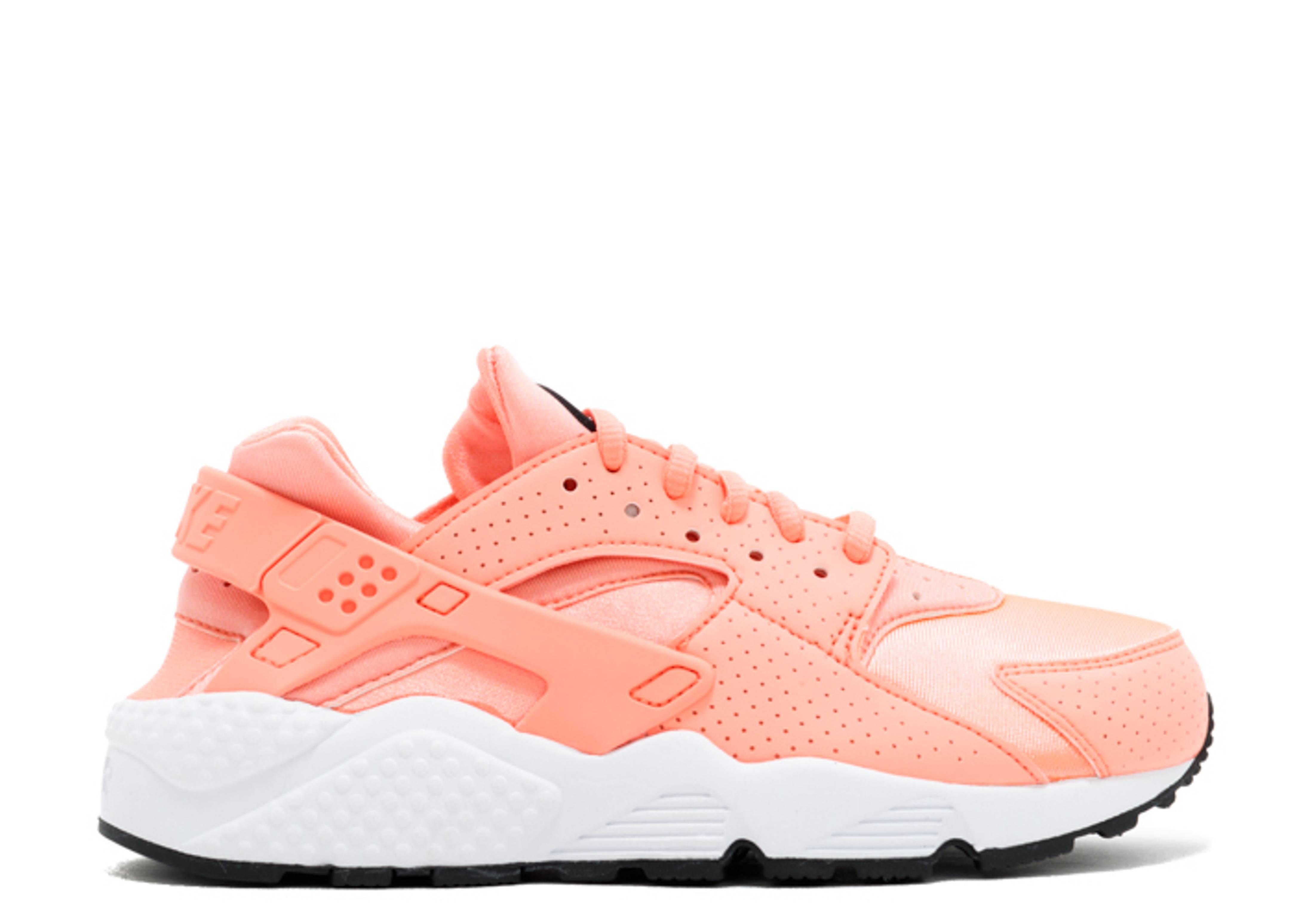 nike huarache white pink