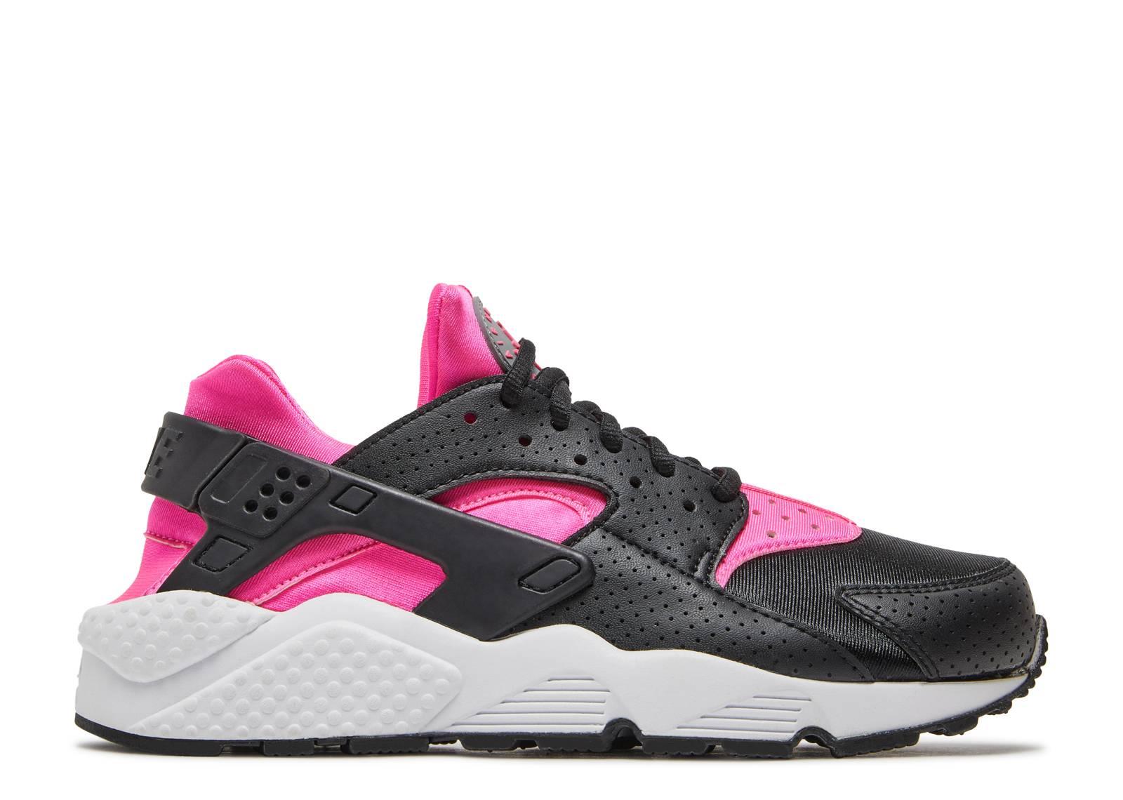 nike air huarache black and pink