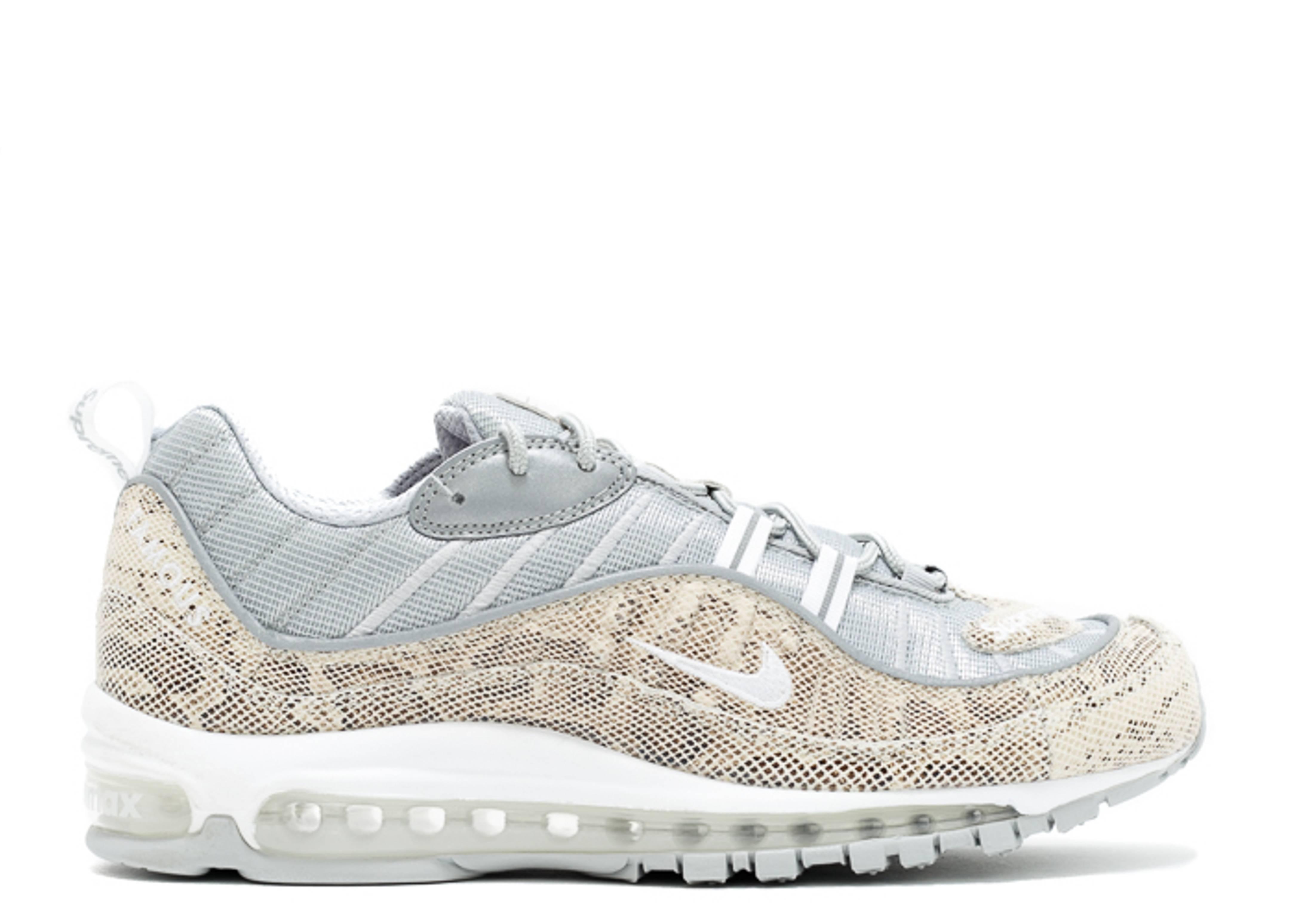 Supreme X Air Max 98 Snakeskin Nike 844694 100 Sail