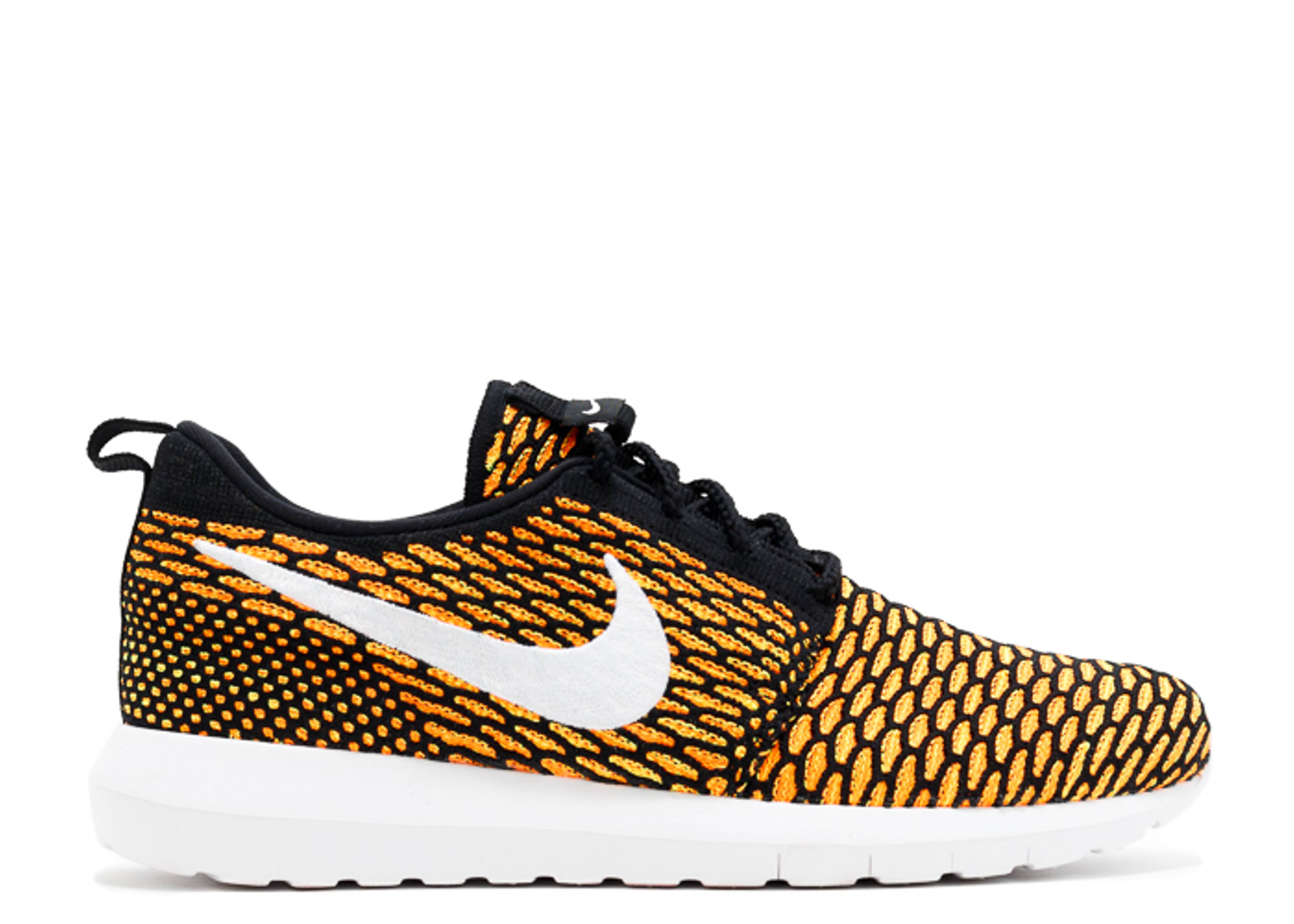 Roshe Nm Flyknit - Nike - 677243 018 - black white-total orange-volt ... 84f9425da