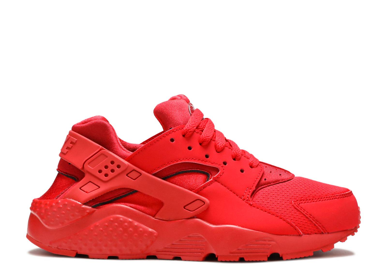 All Red Huarache Nike Shoes