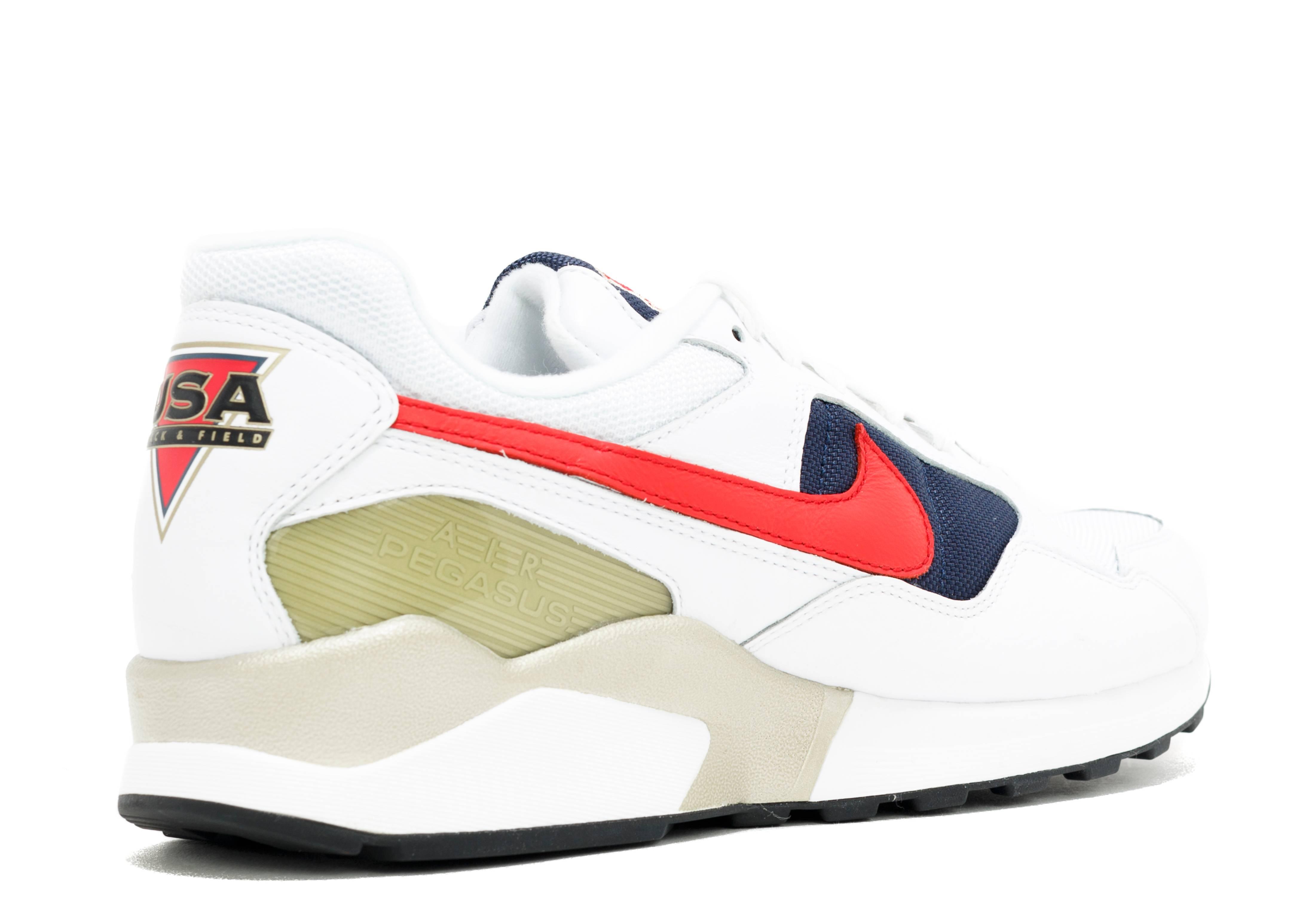 Men Nike Air Zoom Pegasus 92 Shoe Black Gamma Blue Fire