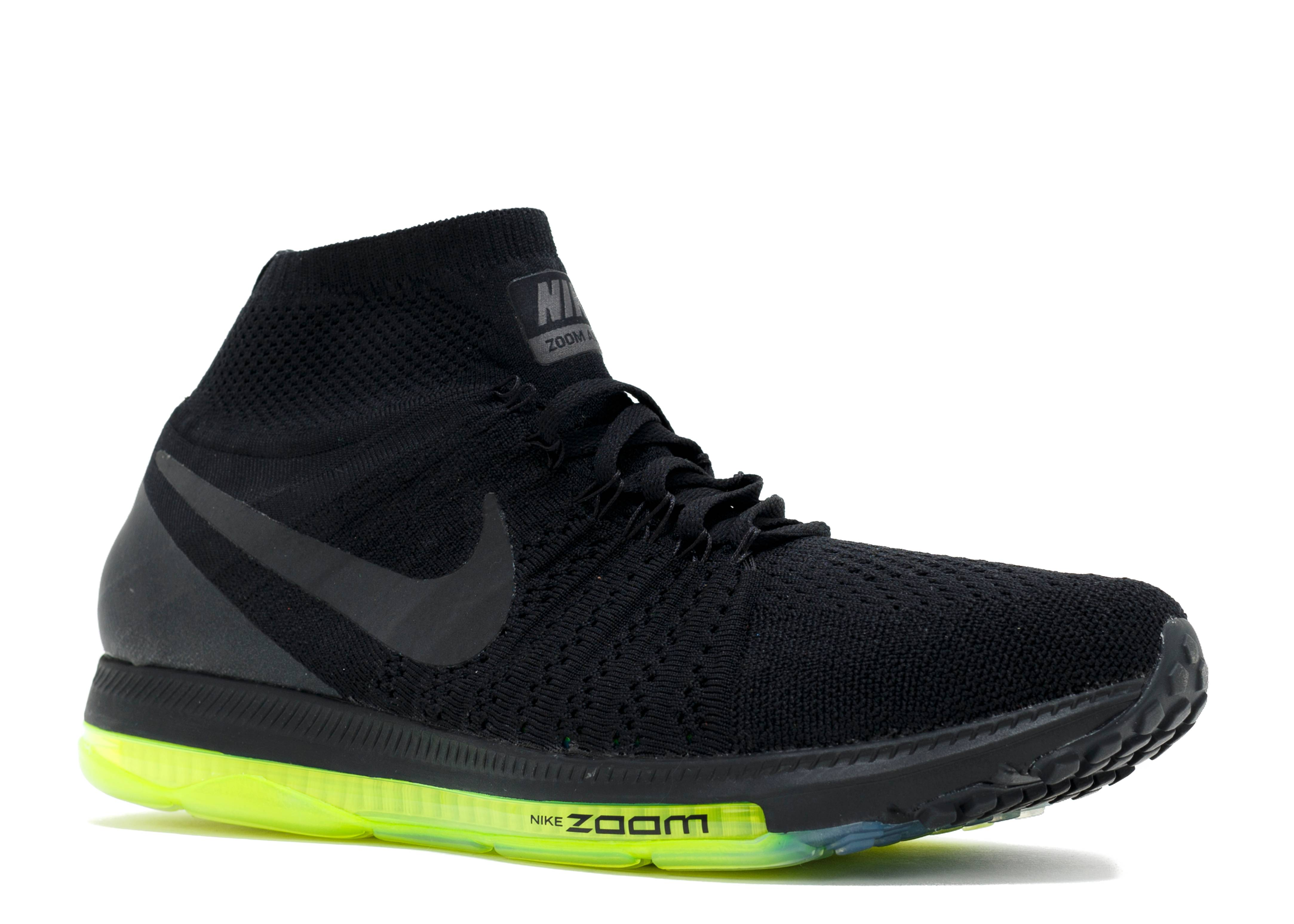 official photos 40034 3d2ed Zoom All Out Flyknit - Nike - 844134 001 - black black-volt