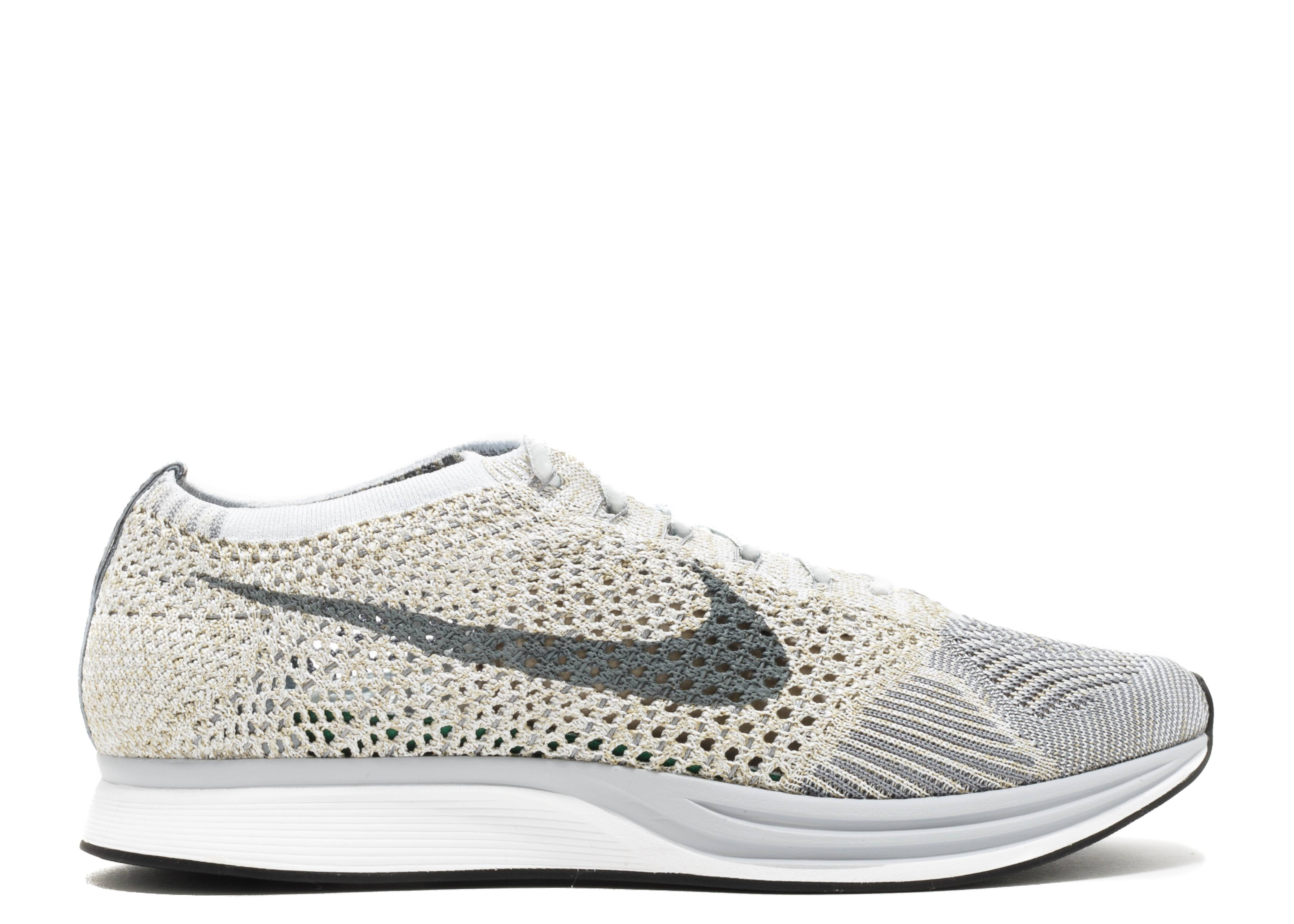 "flyknit racer ""pure platinum"""