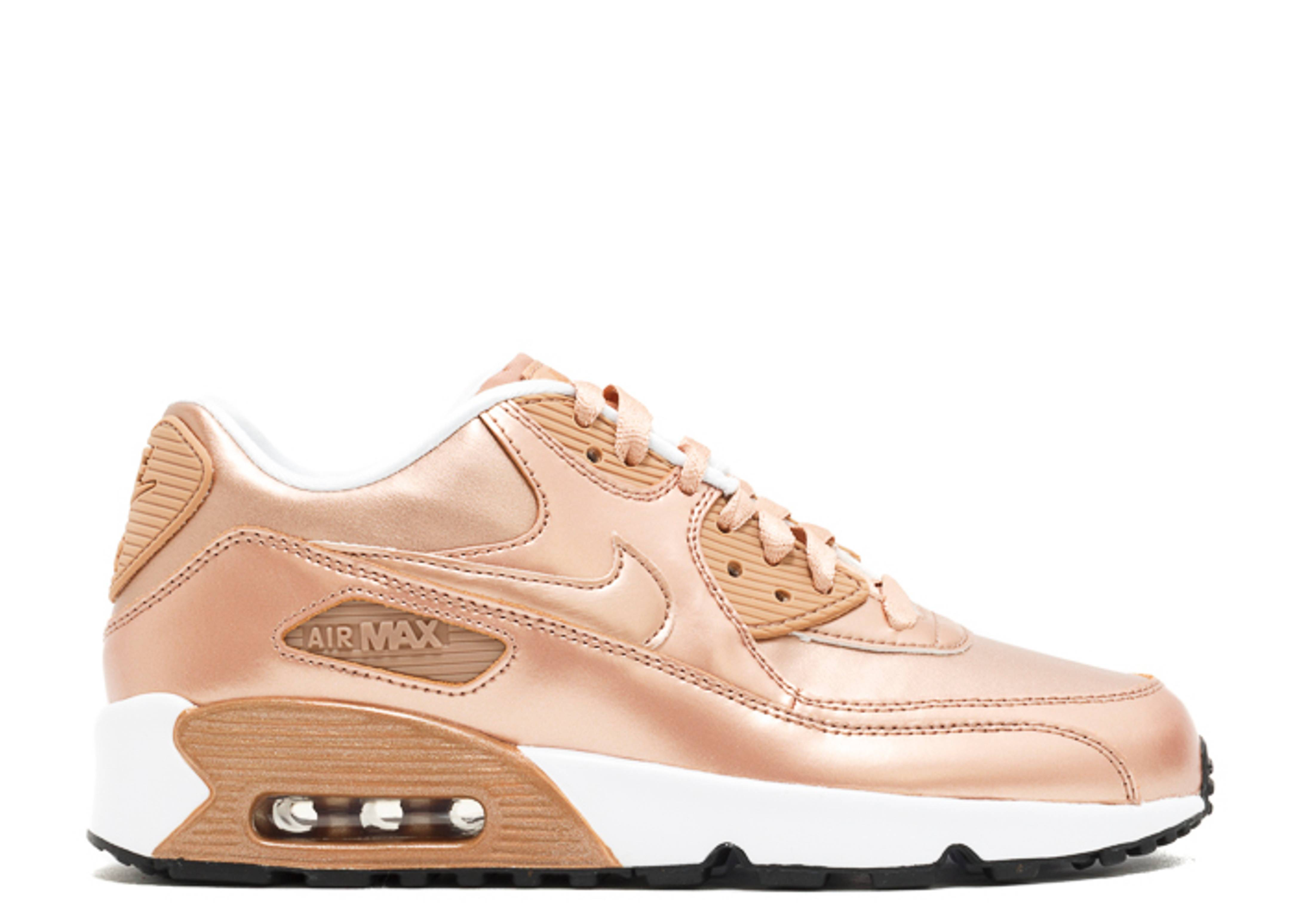 "air max 90 se ltr (gs) ""metallic bronze"""