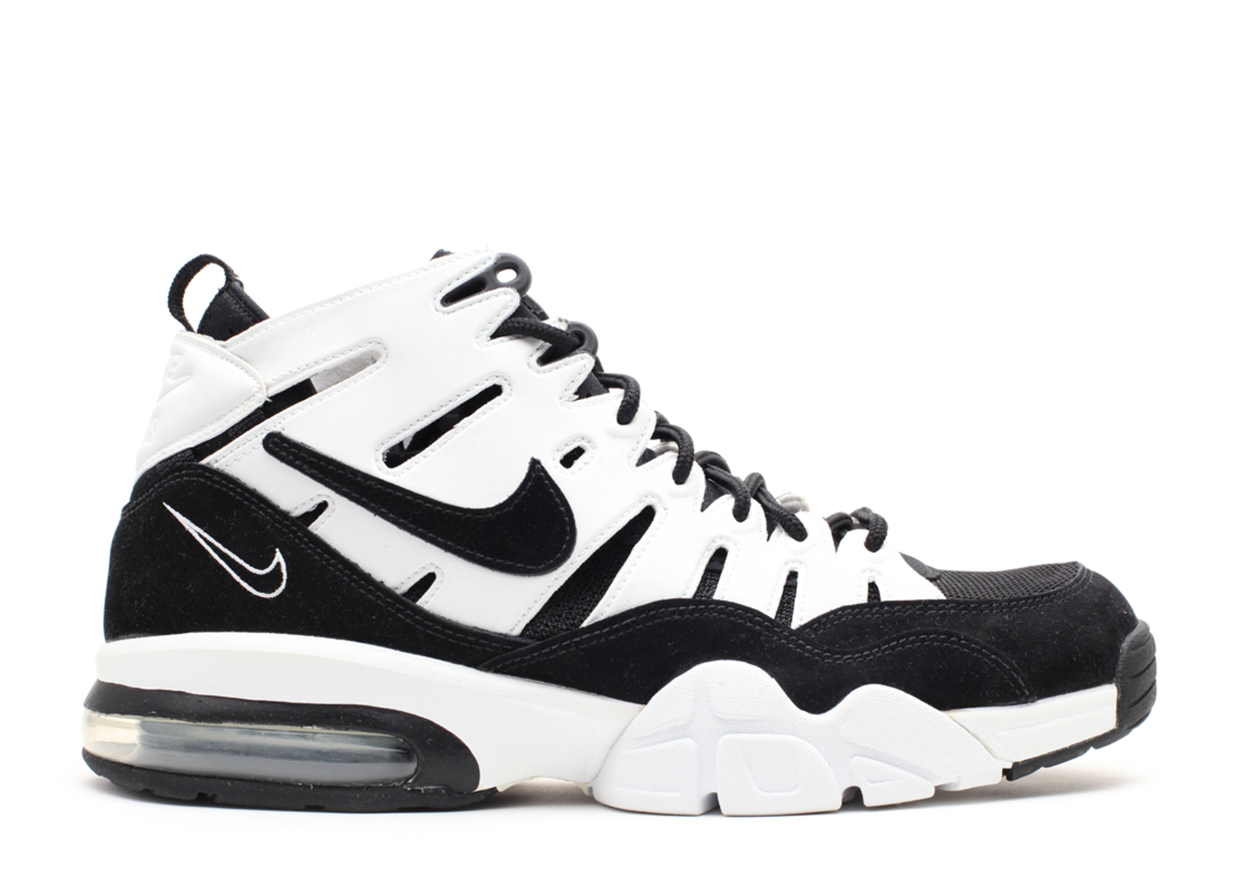 black and white nike air max trainers 94