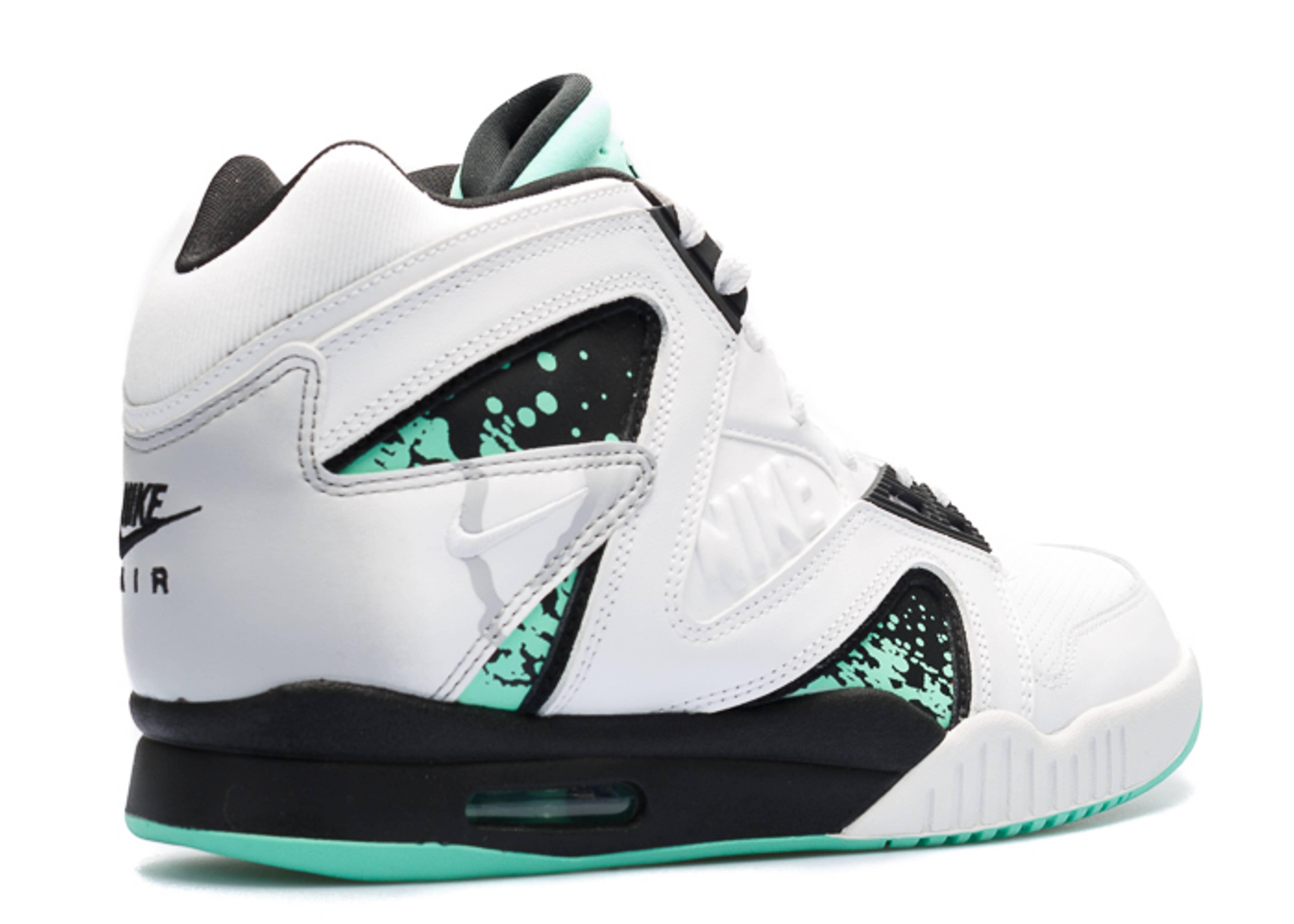 6e034fe5aba8 Air Tech Challenge Hybrid Qs - Nike - 659917 130 - white green glow .