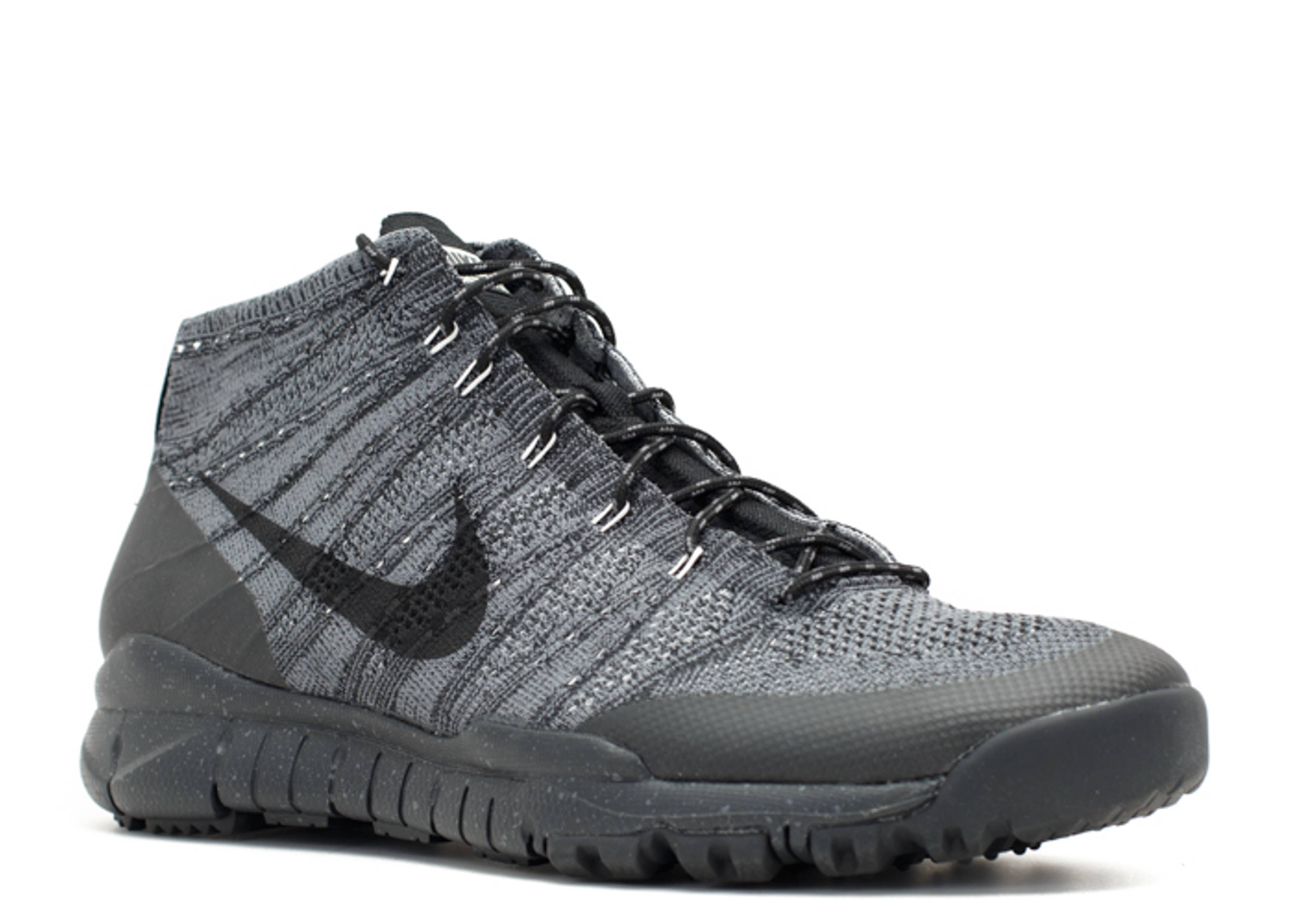 Nike Flyknit Trainer Chukka FSB Black Dark Grey Sneakers (Black/Black-Dark Grey-Sail)