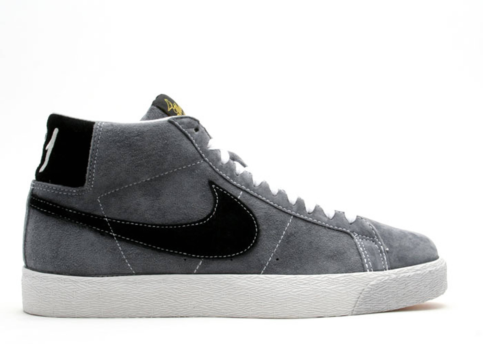 grey and black nike blazers