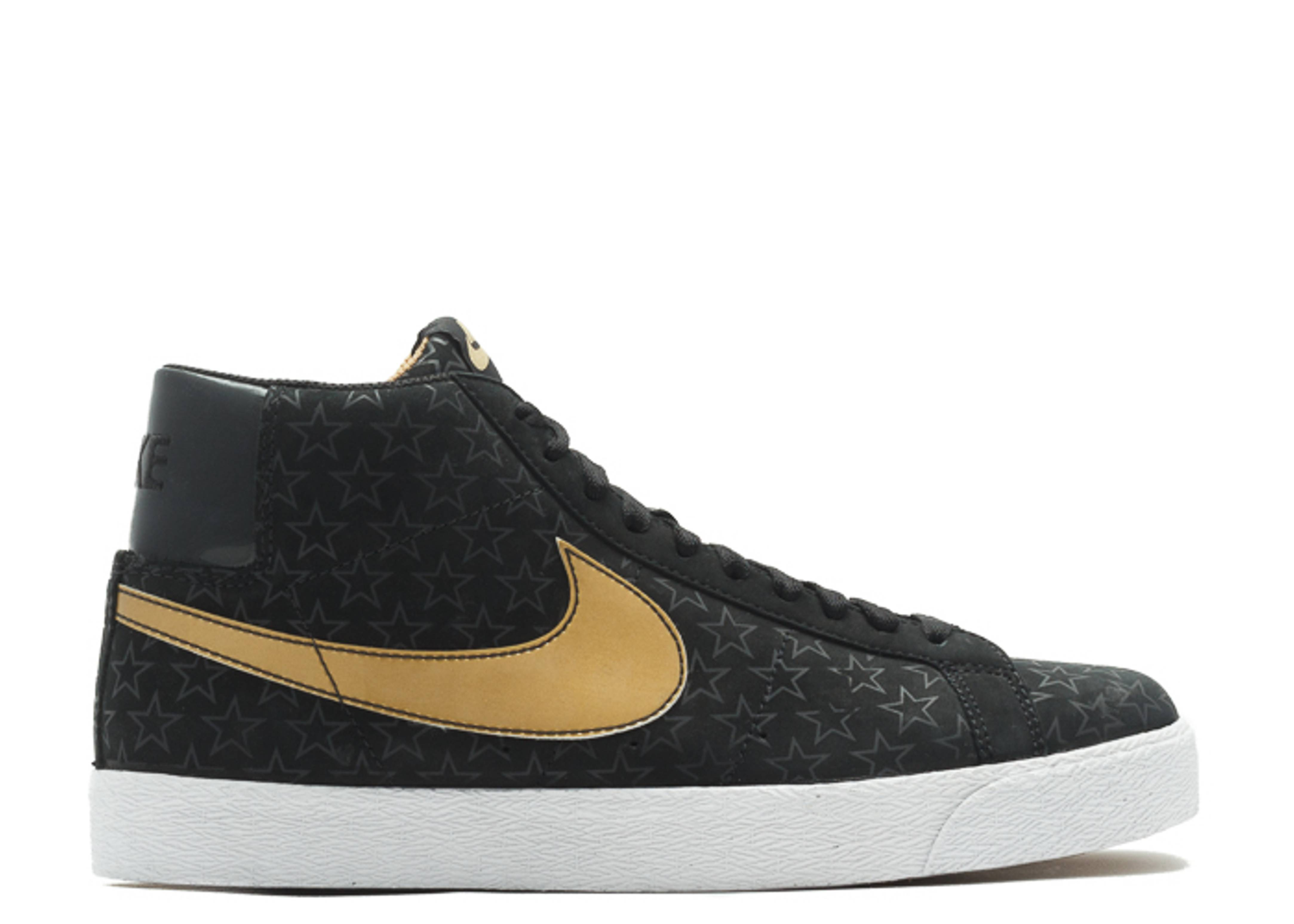 Nike SB Blazer Trickstar Sneakers (Black/Metallic Gold)