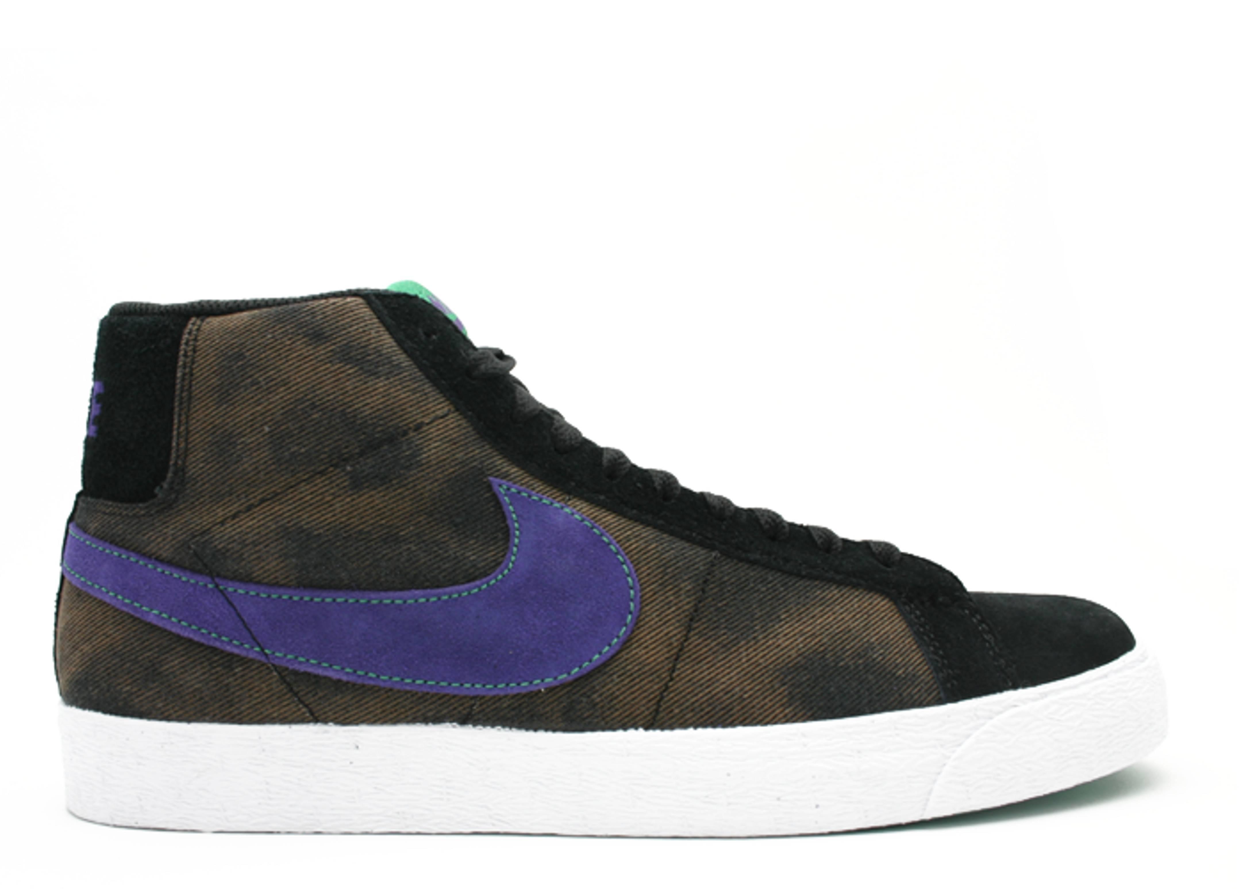 Nike Blazer SB Black Varsity Purple Volt Size 8