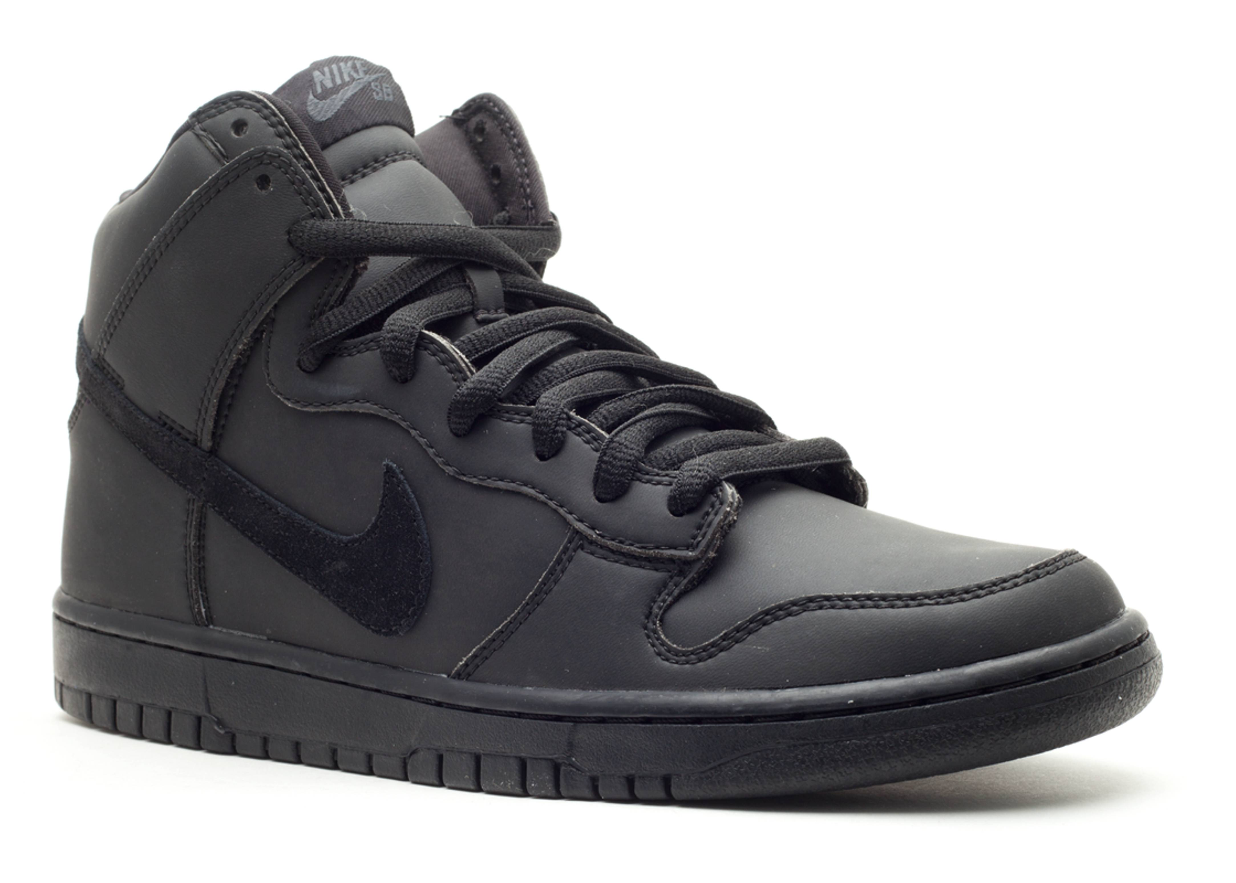 dunk high premium sb black/black