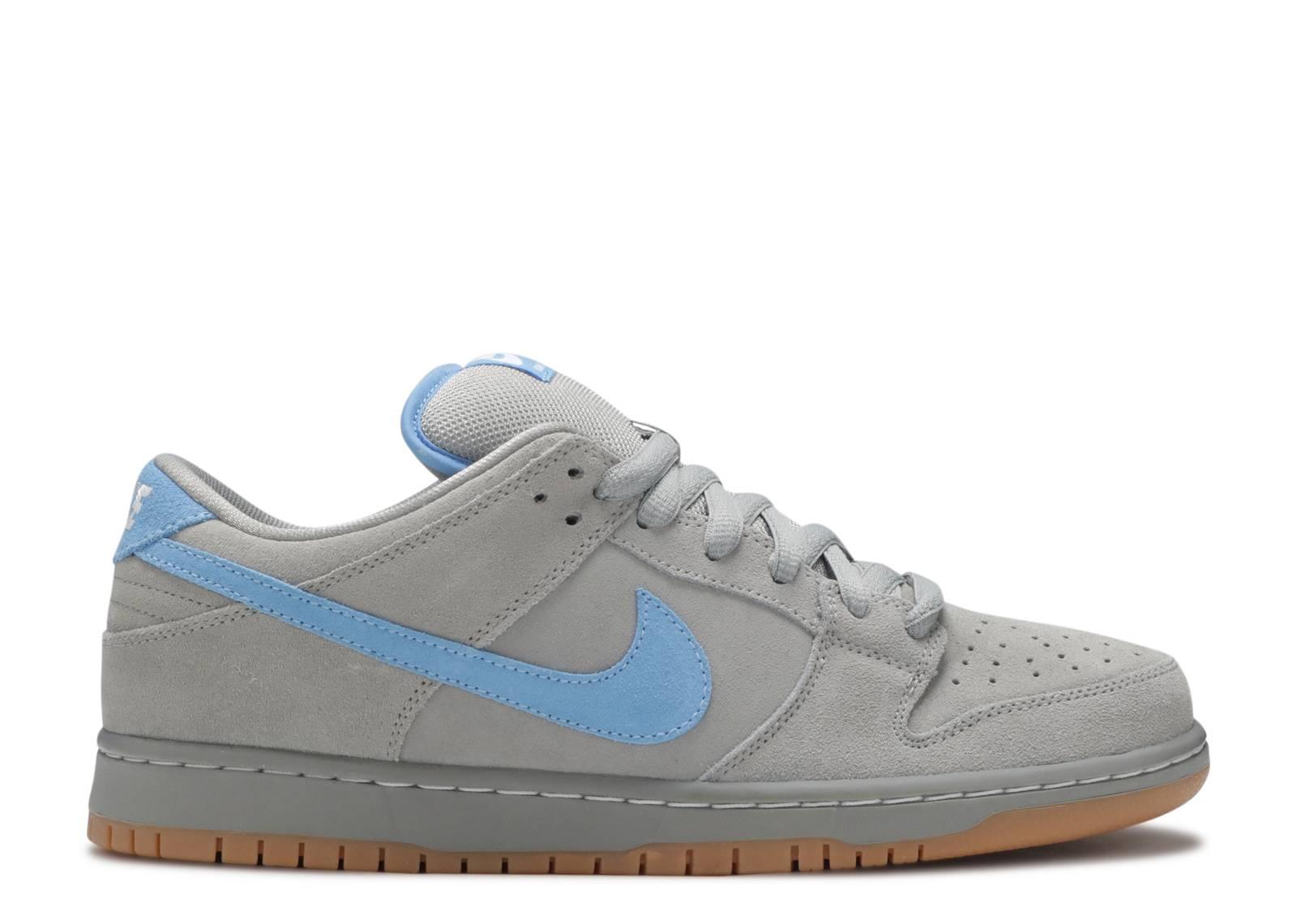 Nike Dunk SB Low Iron Low Sneakers (Medium Grey/University Blue)