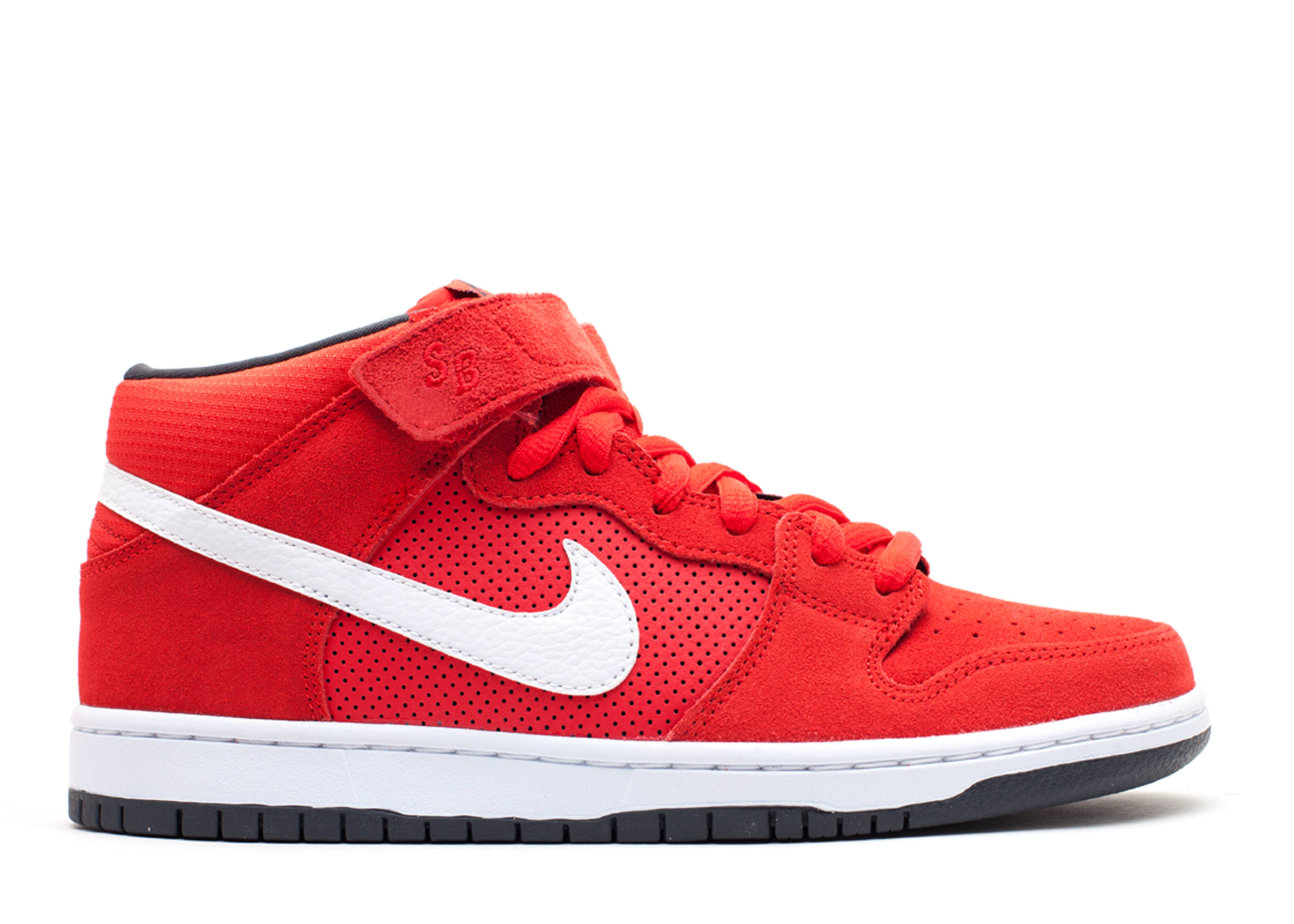 Dunk Mid Pro Sb - Nike - 314383 610 - hyper red/white-anthracite ...