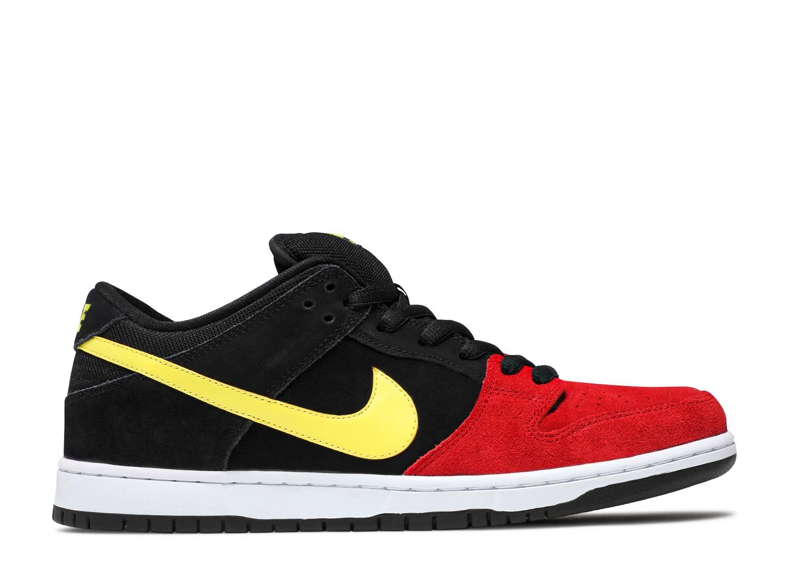 Nike Dunk Low Rouge Université Jaune Sonic Pro Noir Nike