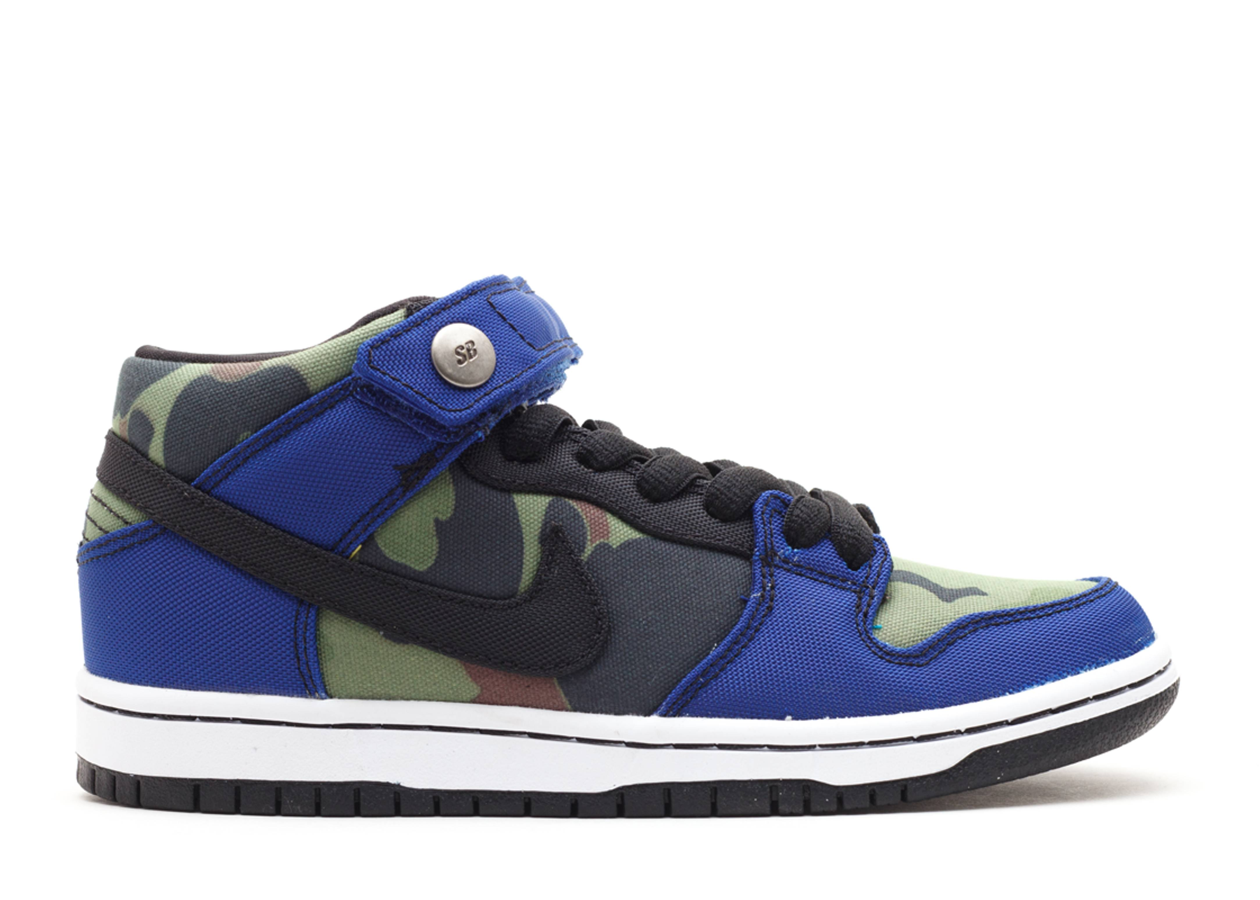 Nike Dunk SB Mid Made for Skate Sneakers (Old Royal/Black-White)