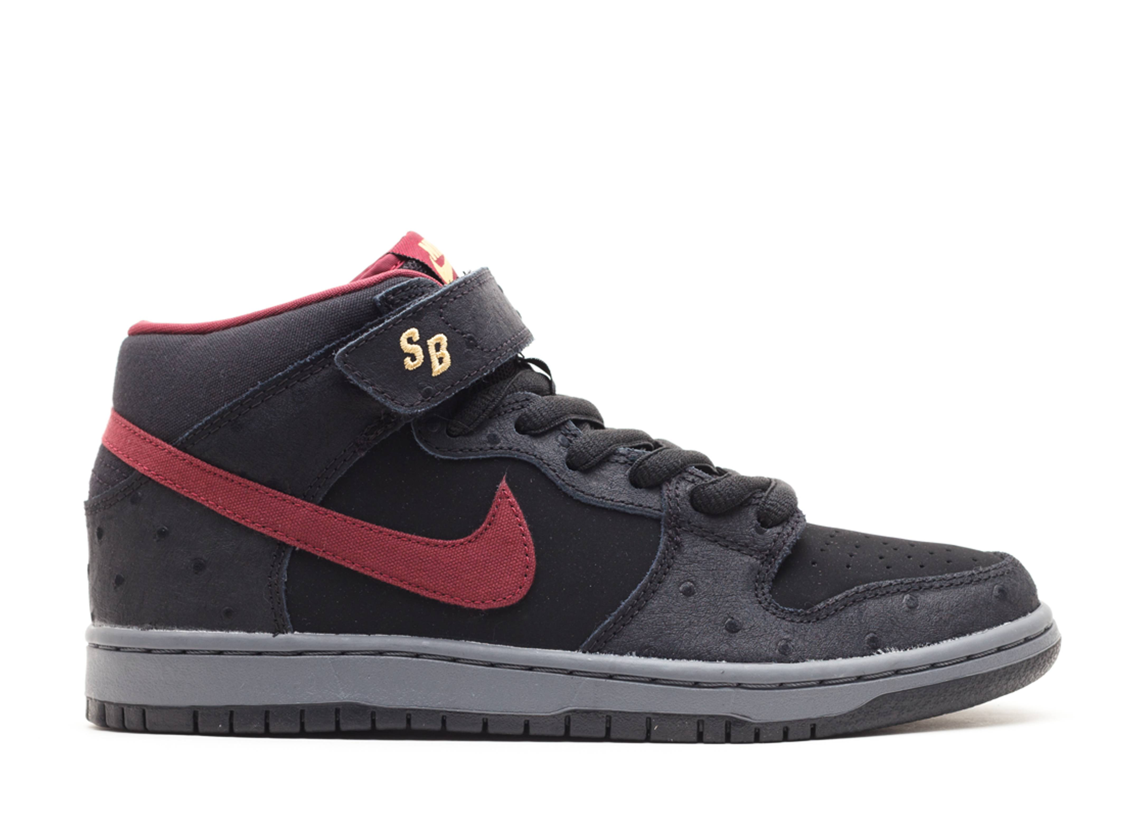 bfe95d93a3e0aa Dunk Mid Pro Sb - Nike - 314383 060 - black cherrywood red-light ...