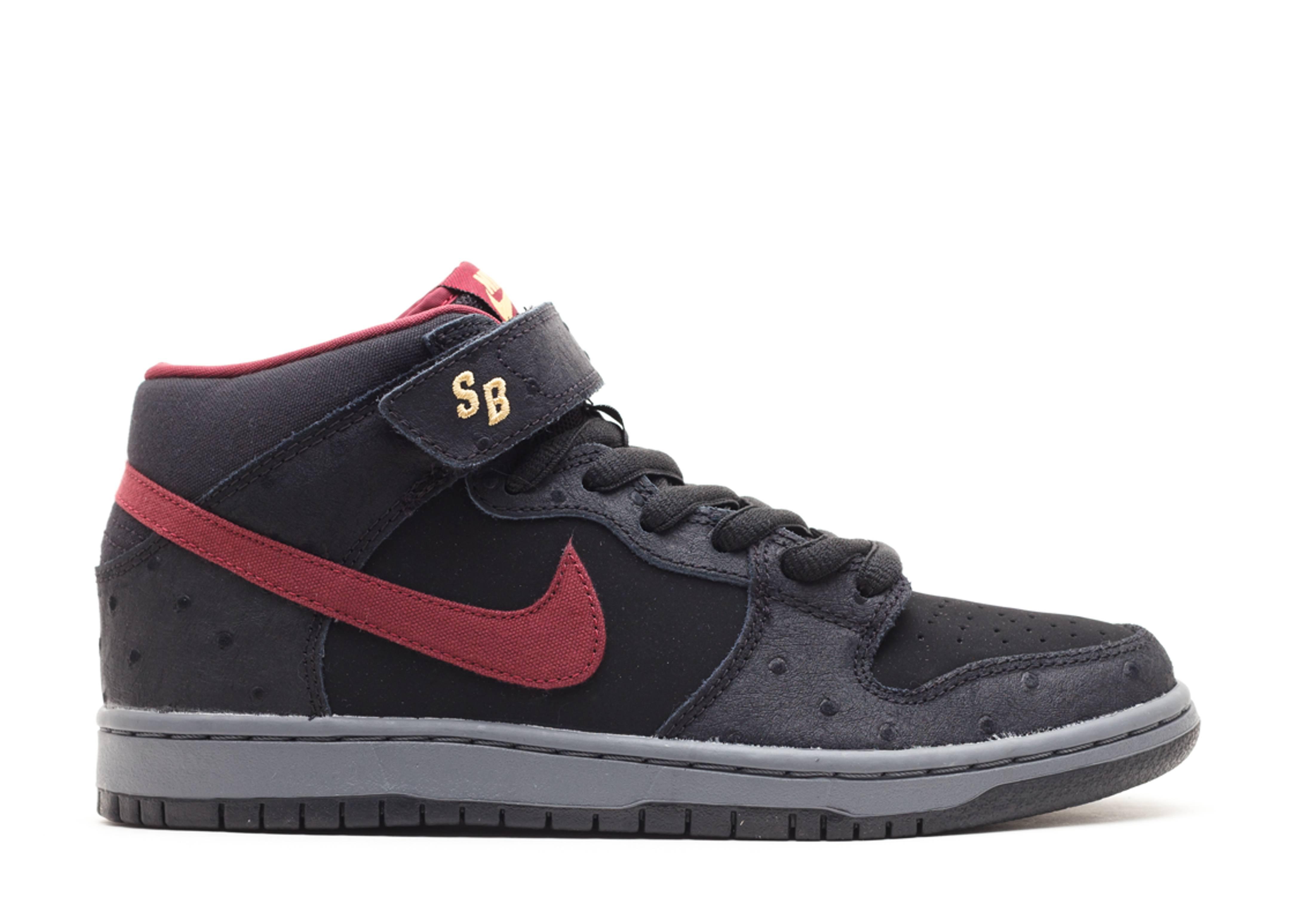 bfe95d93a3e0aa Dunk Mid Pro Sb - Nike - 314383 060 - black cherrywood red-light ...