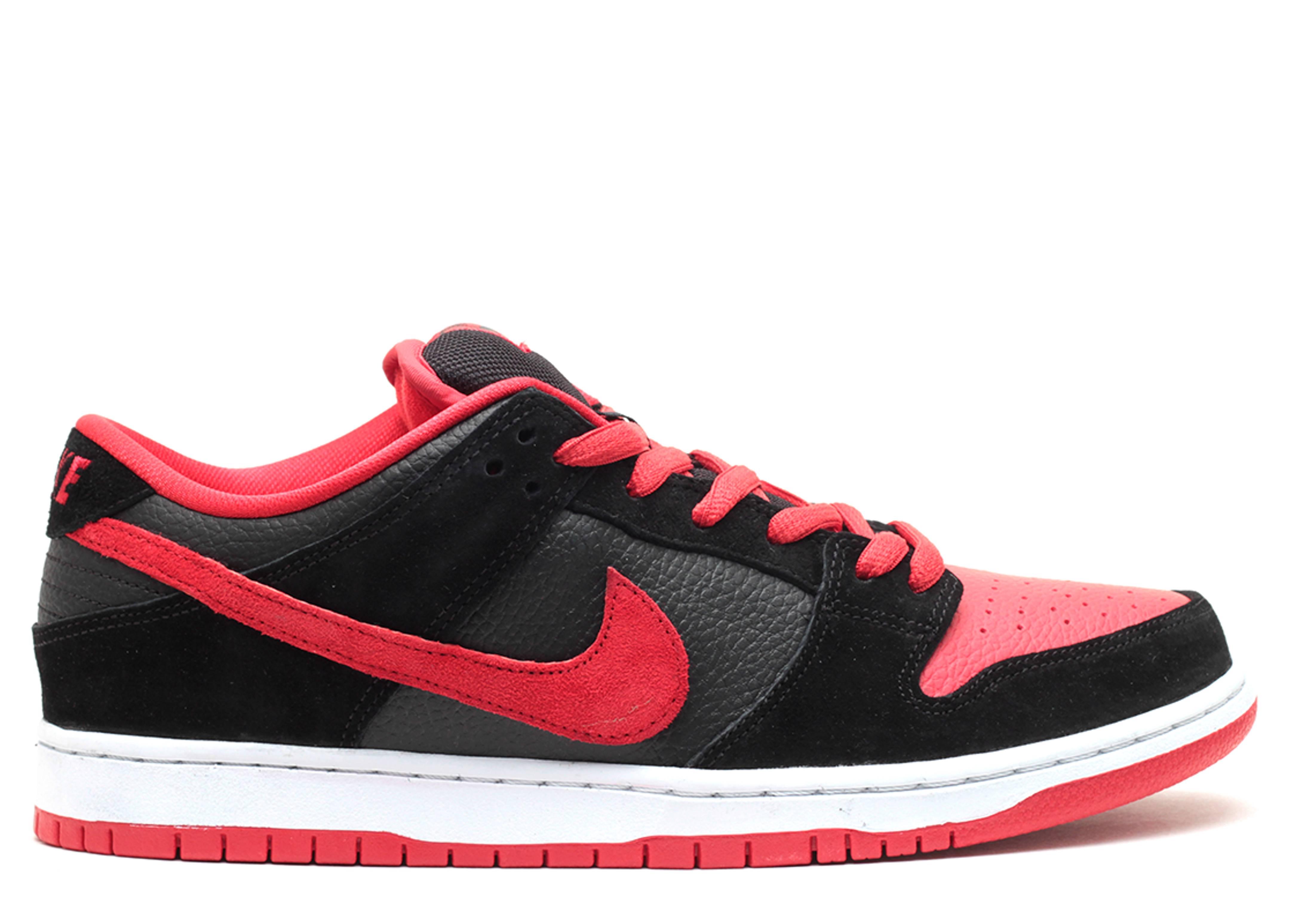 Nike Dunk Low Noir Rouge vente authentique 4a9ENM