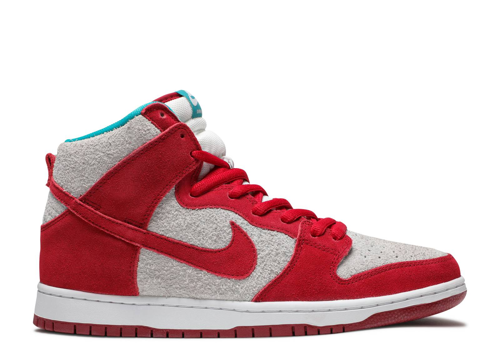 Men's Nike Dunk High Pro SB Gym Red White Sneakers : Y14y1474