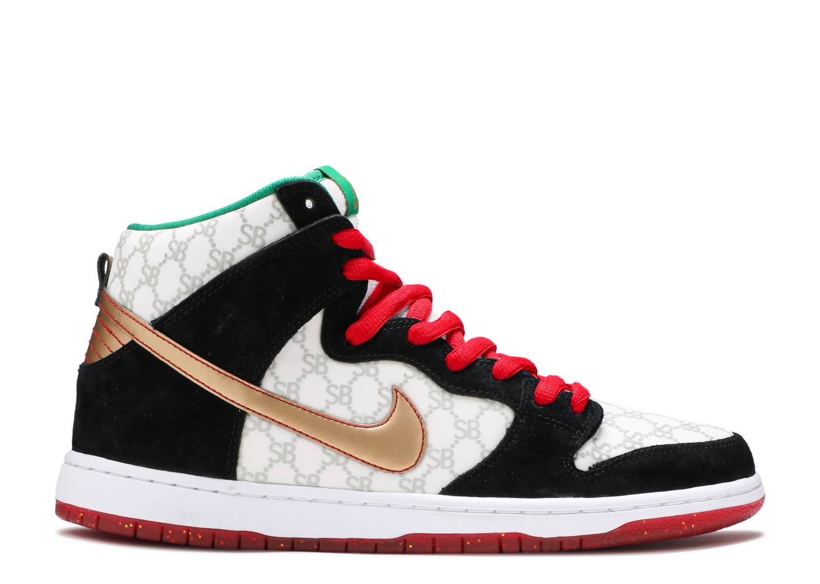 nike. dunk high sb black sheep paid in full